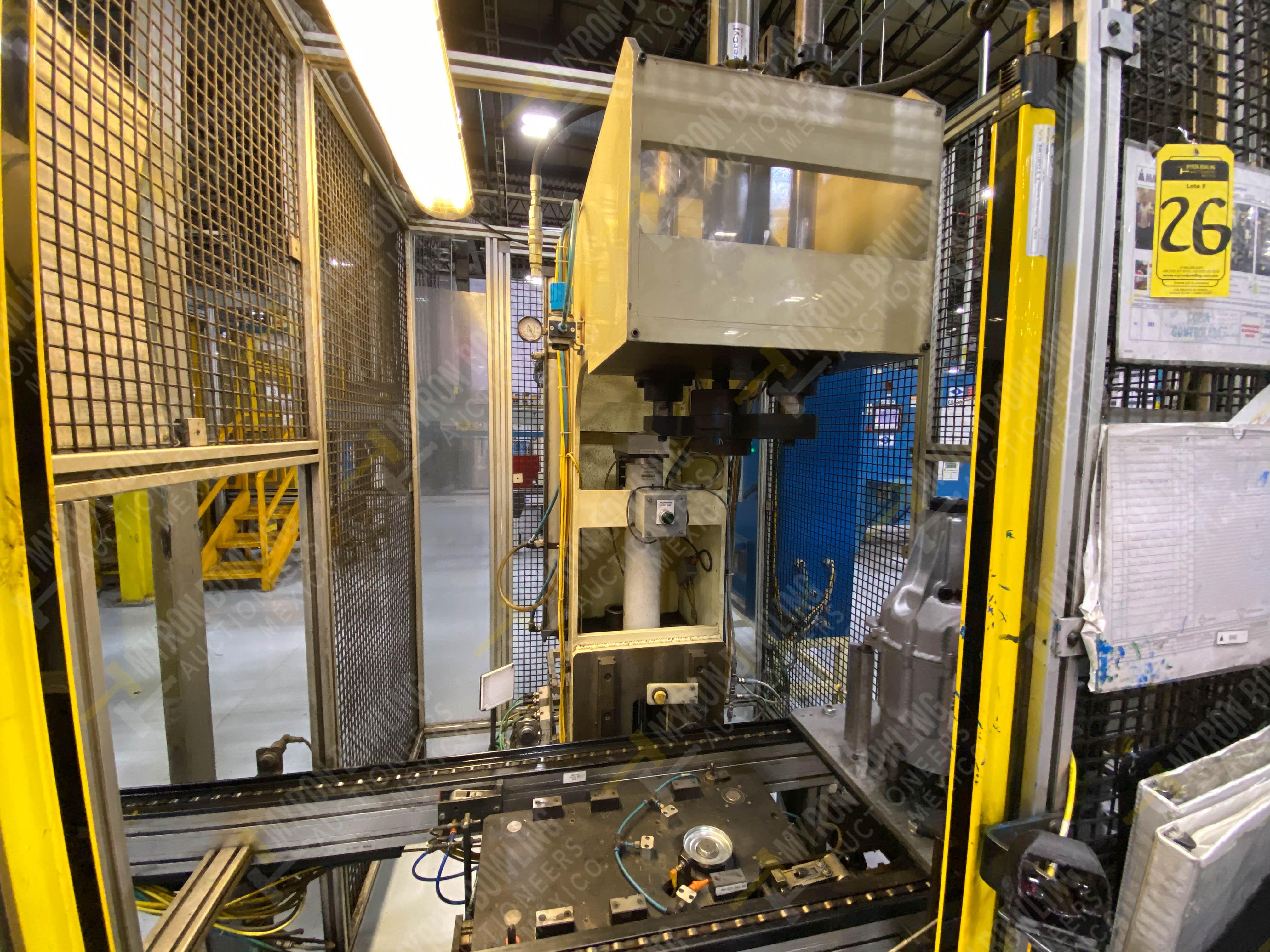 Estación manual para operación 383, contiene: Prensa marca PROMESS en estructura de placa de acero - Image 12 of 27