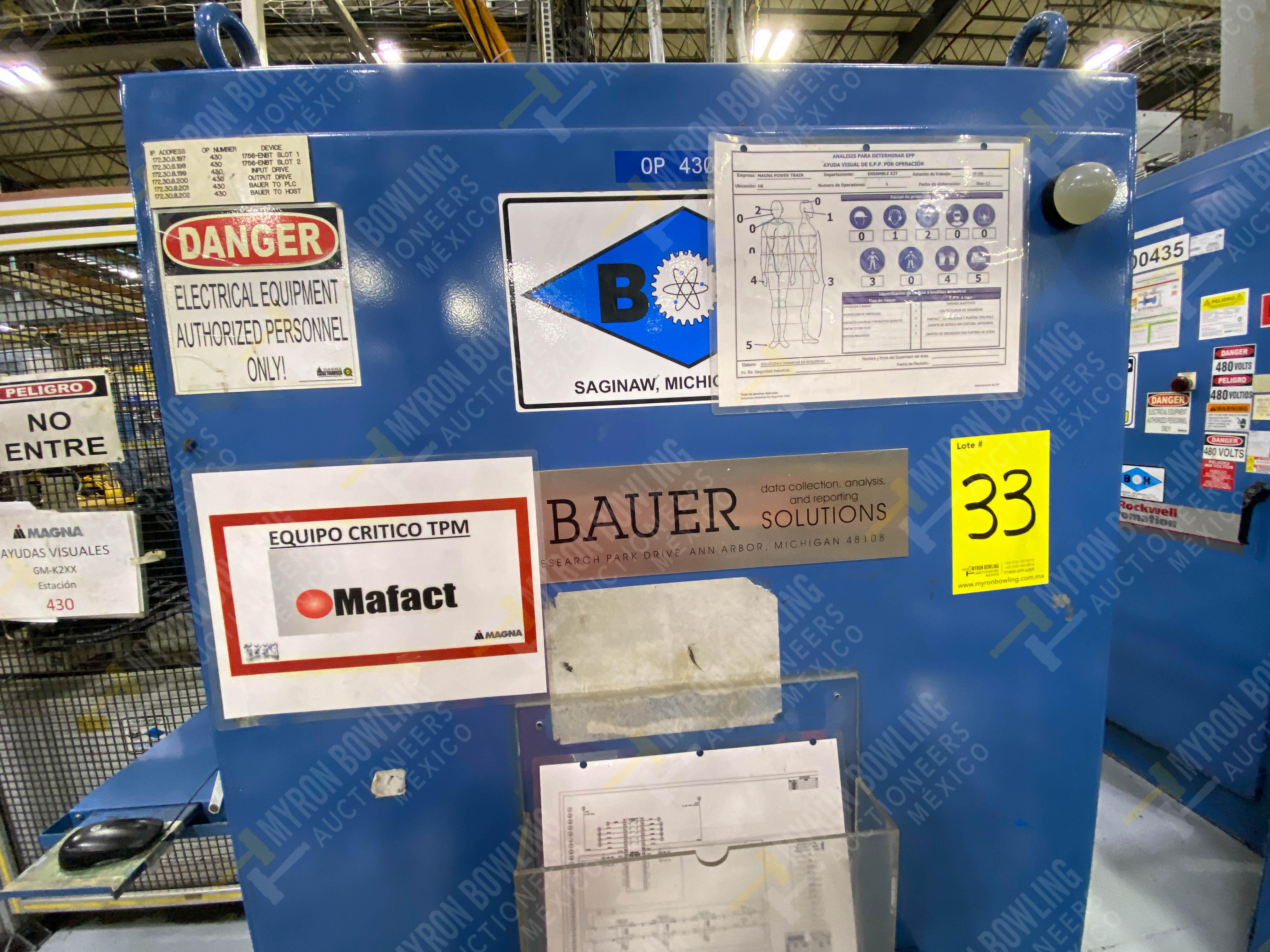 Estación semiautomática para operación 430, contiene: Máquina dinamómetro con sistema de revolución - Image 30 of 32