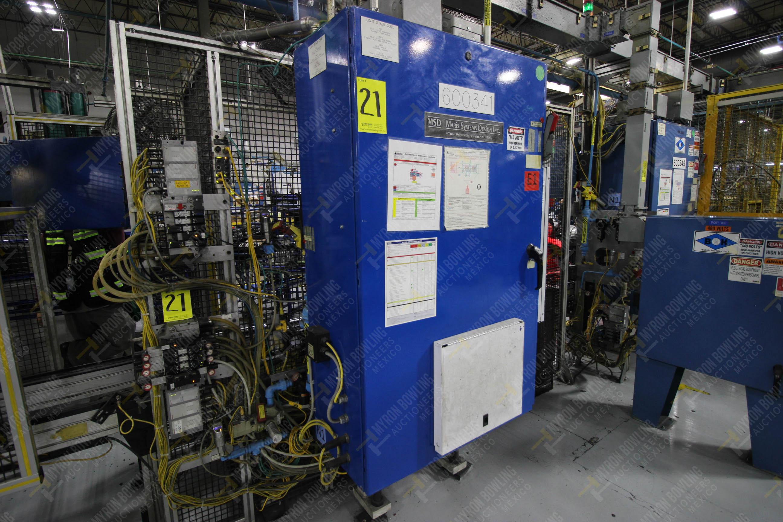 Estación semiautomática para operación 341, contiene: Prensa en estructura de placa de acero - Image 19 of 26