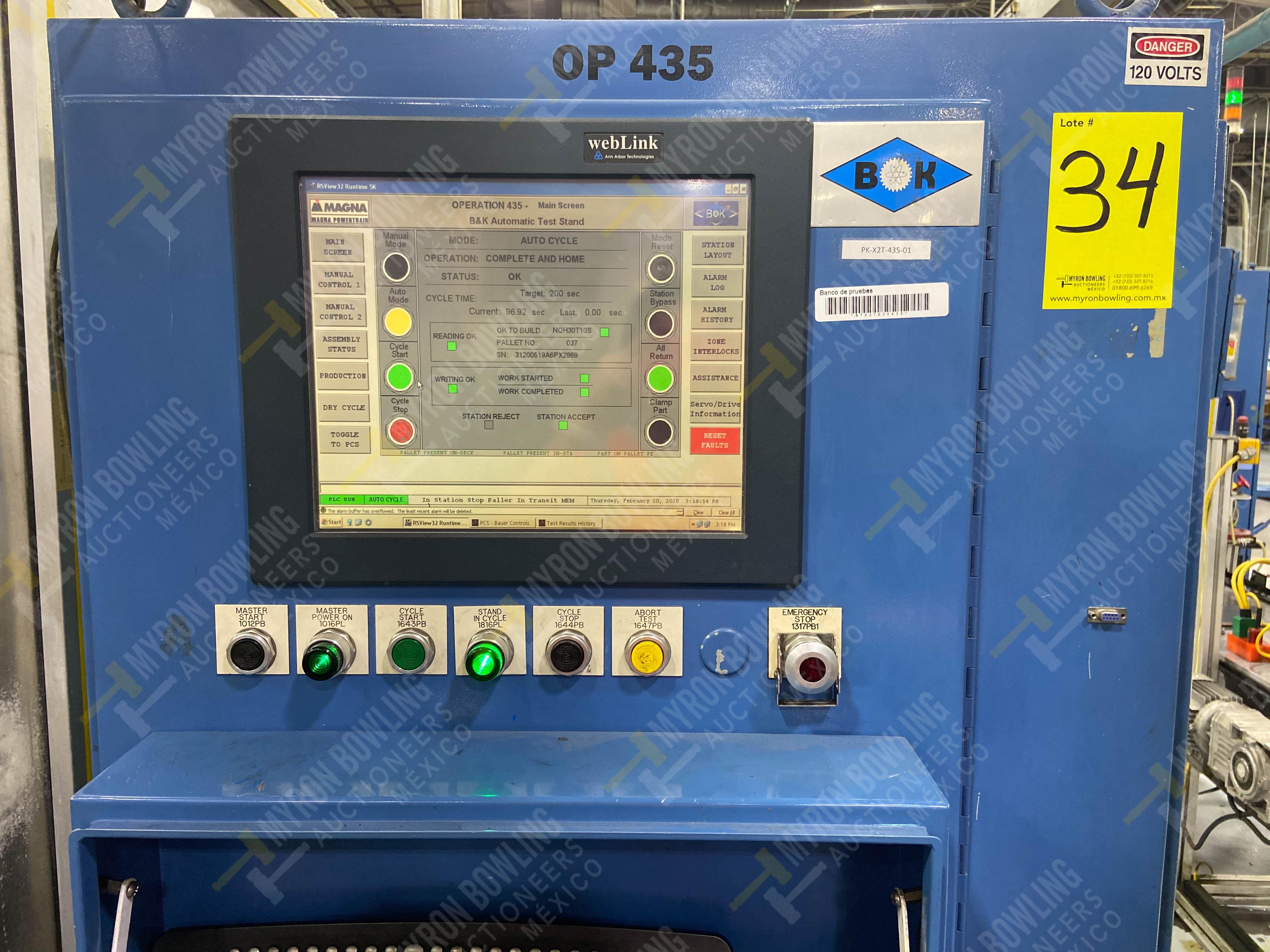 Estación semiautomática para operación 435, contiene: Máquina dinamómetro con sistema de revolución - Image 27 of 28