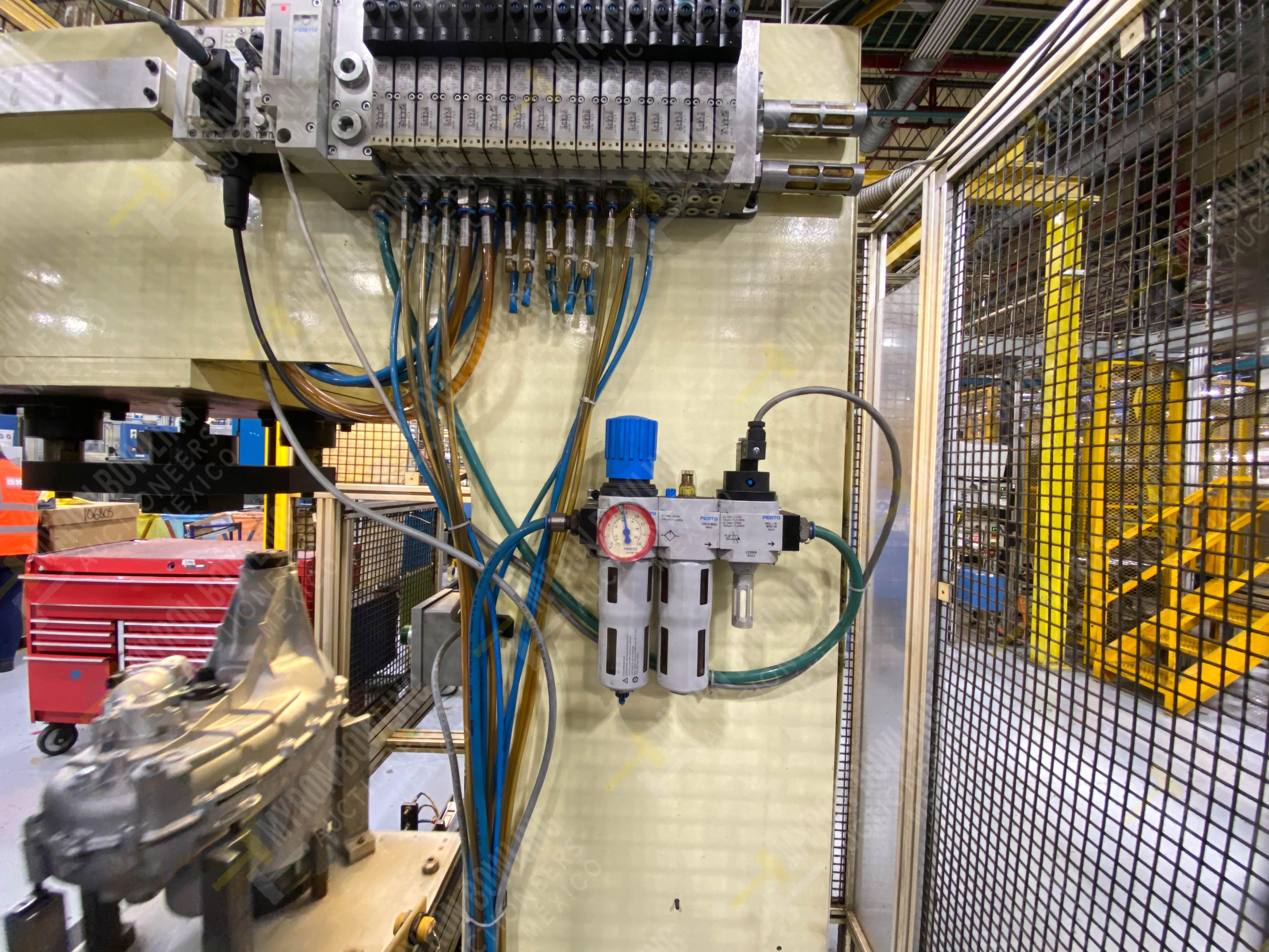 Estación manual para operación 383, contiene: Prensa marca PROMESS en estructura de placa de acero - Image 19 of 27