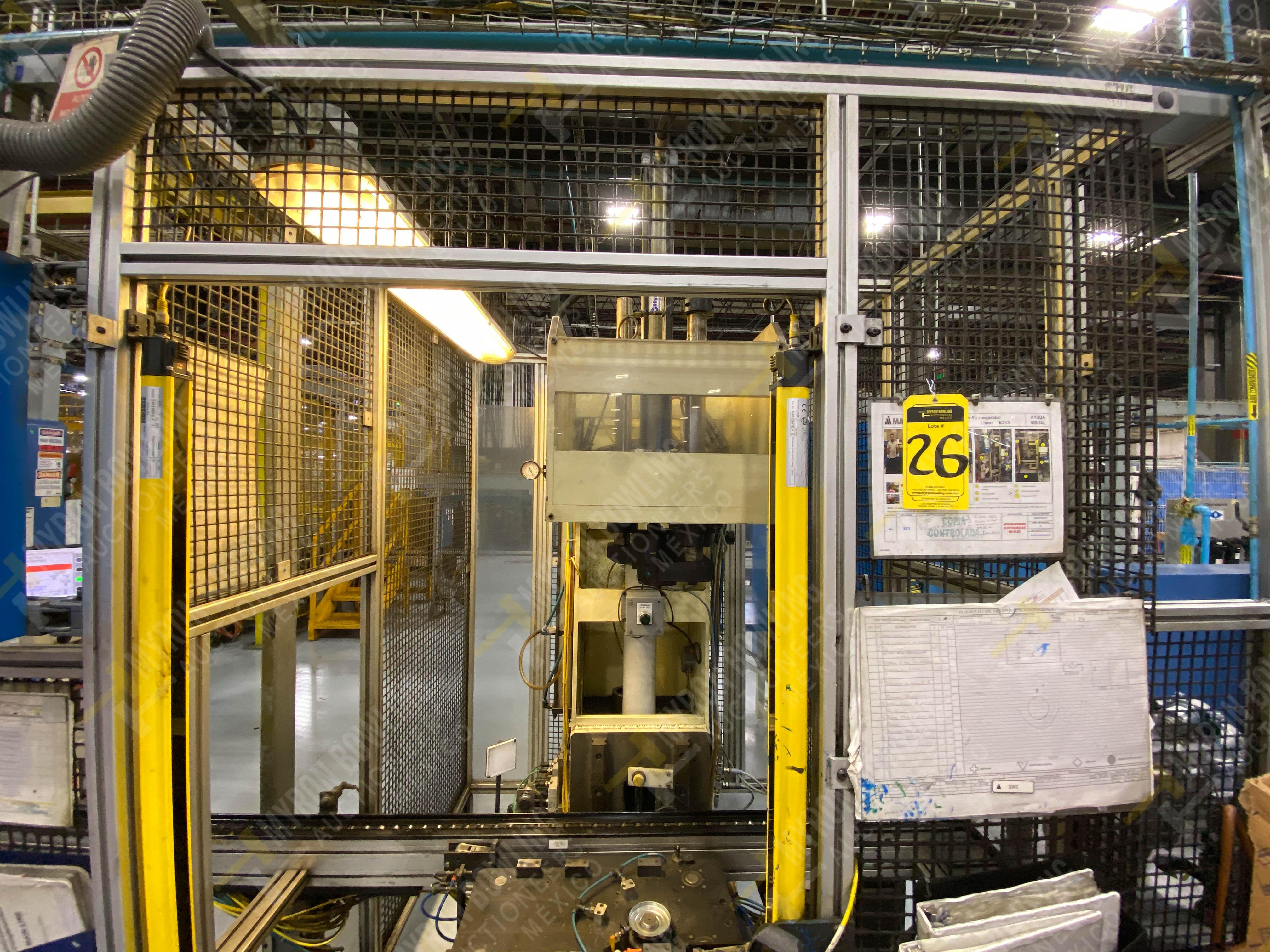 Estación manual para operación 383, contiene: Prensa marca PROMESS en estructura de placa de acero - Image 8 of 27