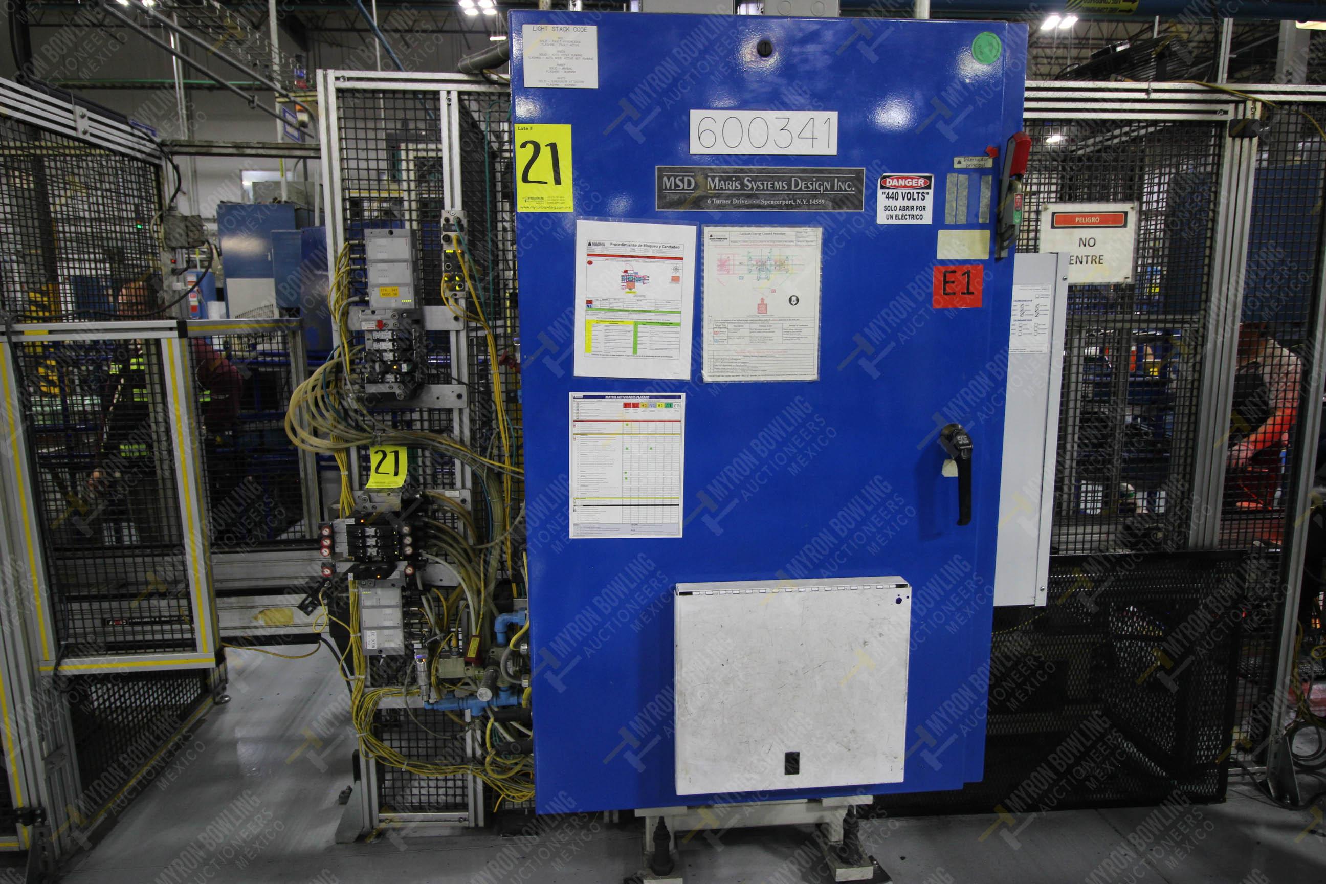 Estación semiautomática para operación 341, contiene: Prensa en estructura de placa de acero - Image 18 of 26