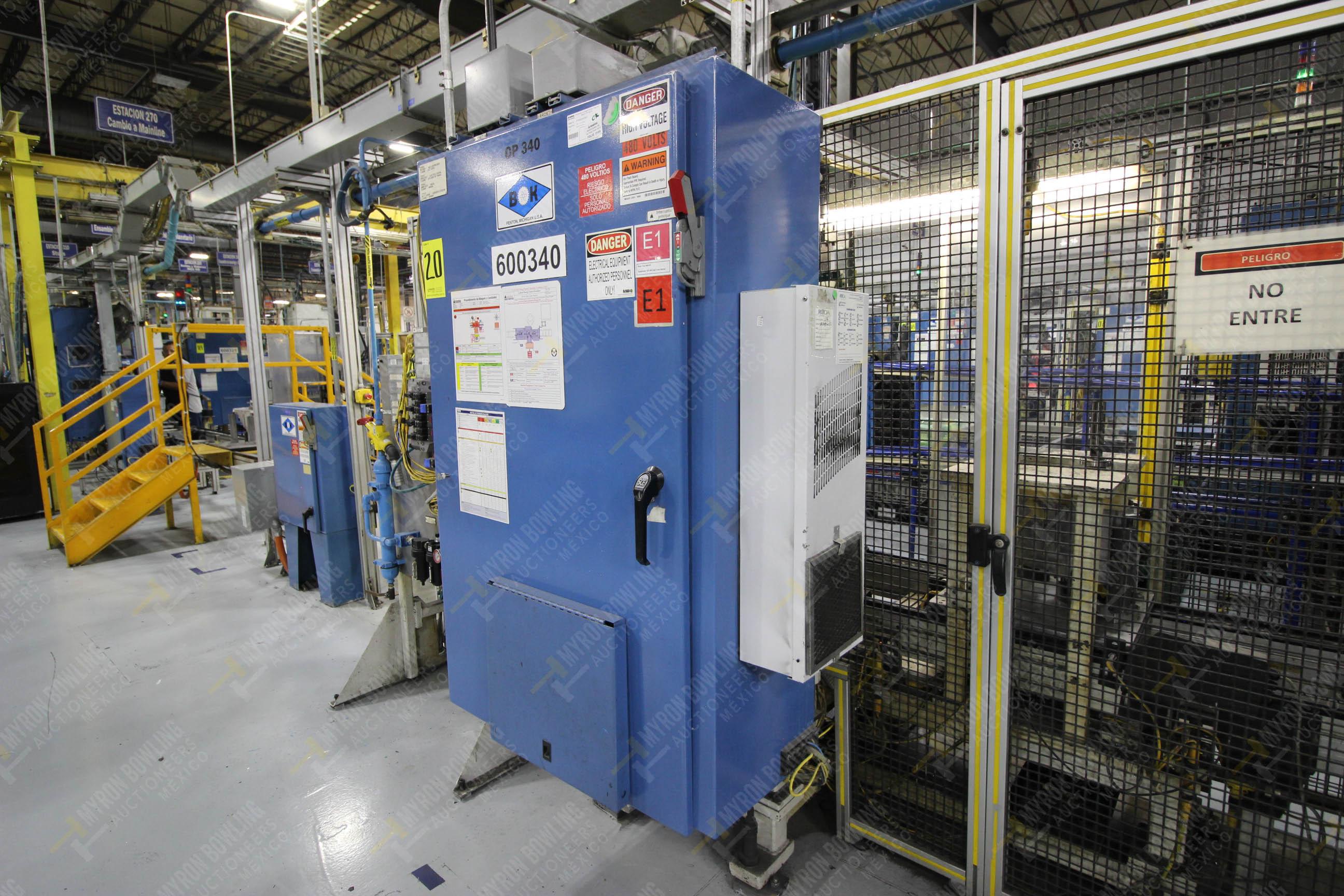 Estación semiautomática para operación 340, contiene: Prensa en estructura de placa de acero - Image 25 of 32