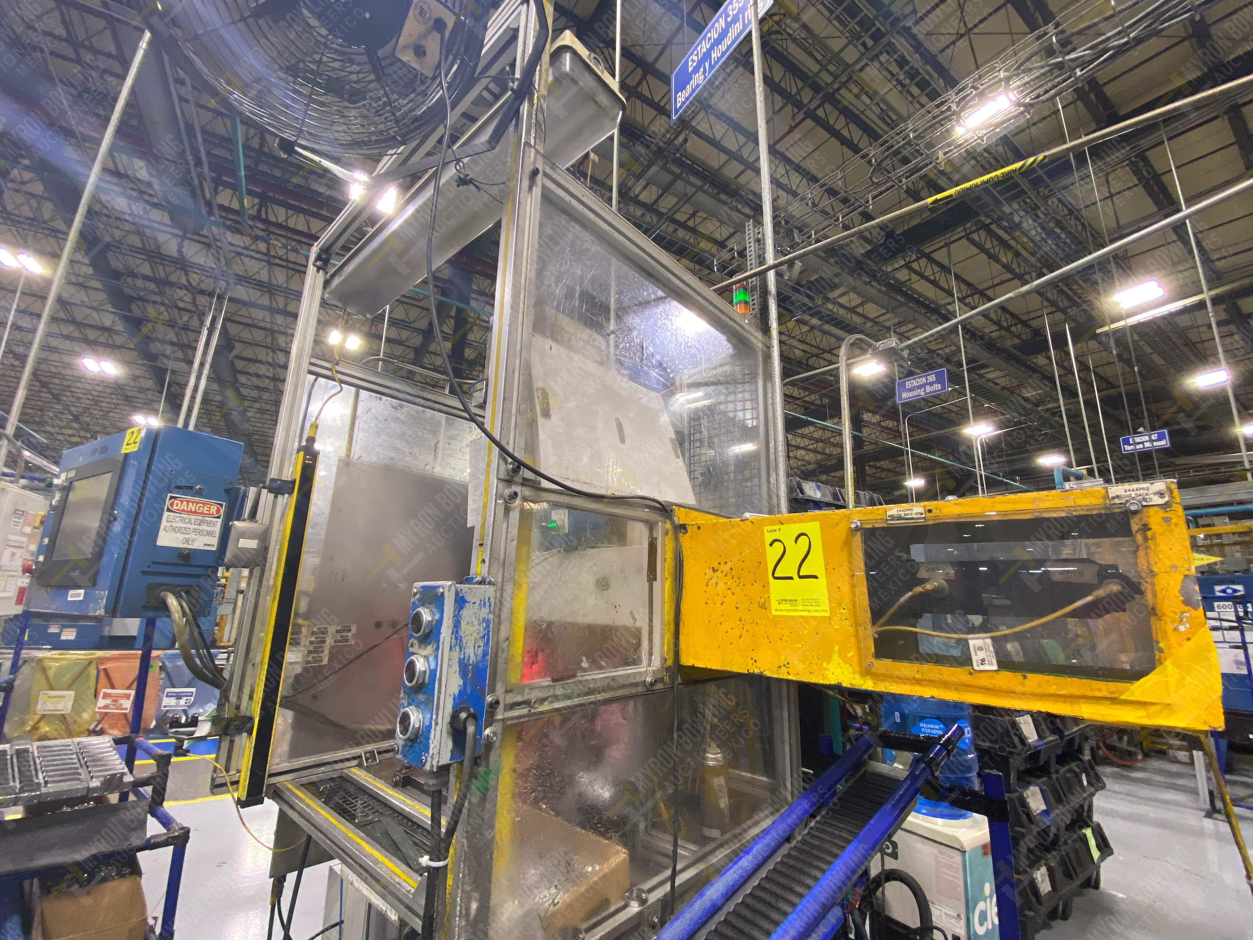 Estación semiautomática para operación 355A, contiene: Prensa en estructura de placa de acero - Image 5 of 36