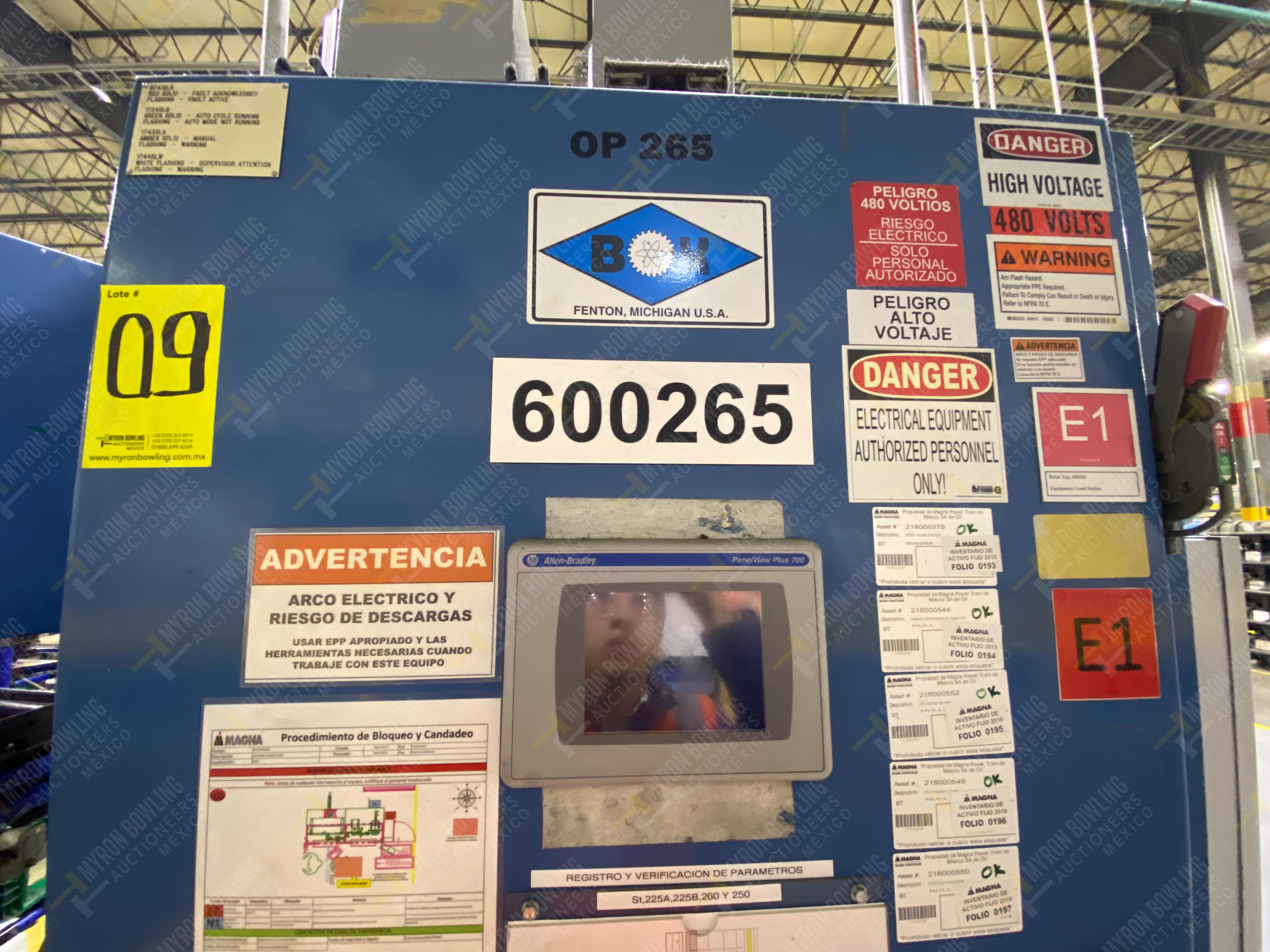 Estación semiautomática para operación 265A y 265B de ensamble de resorte, candado y ponchado - Image 23 of 30