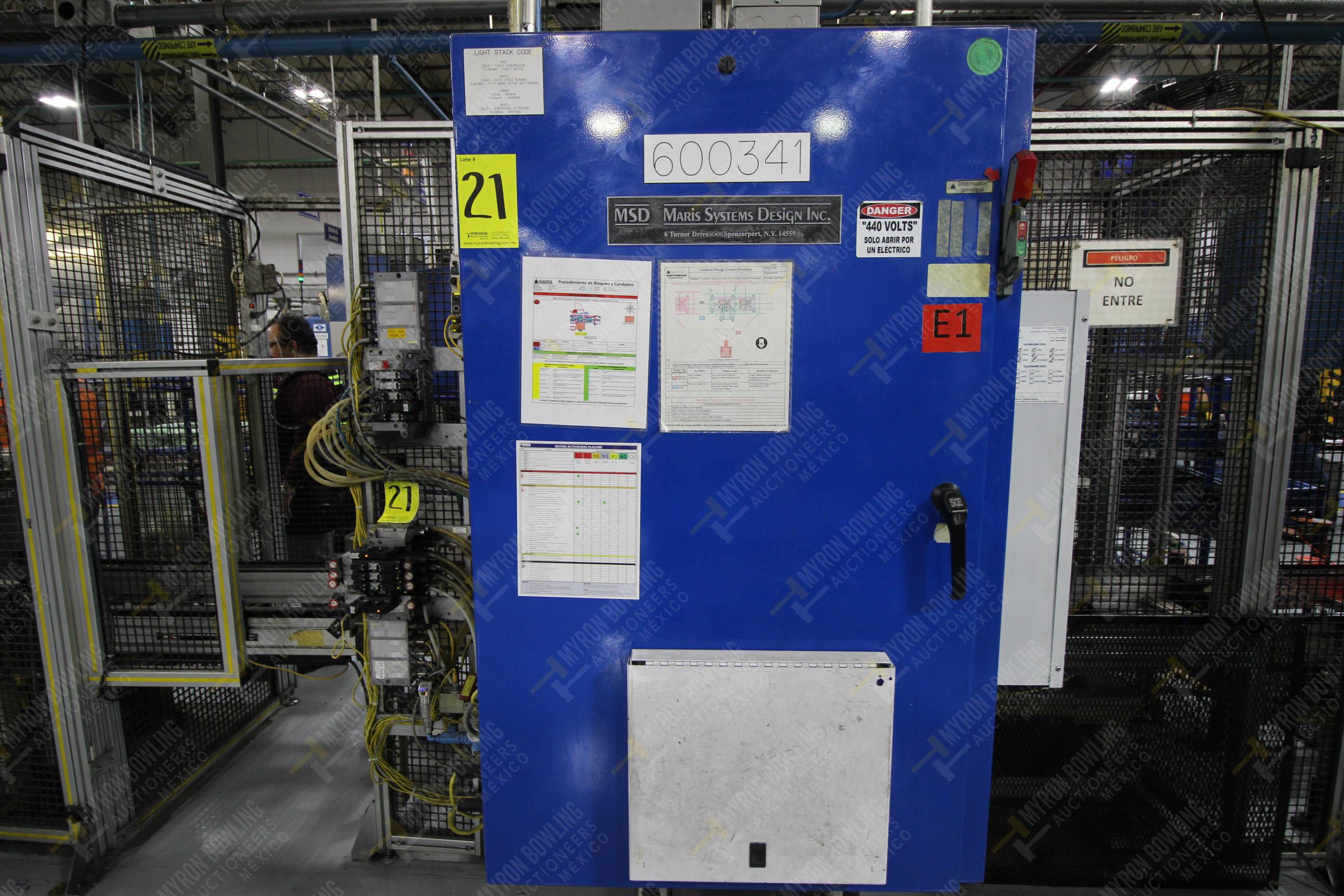 Estación semiautomática para operación 341, contiene: Prensa en estructura de placa de acero - Image 17 of 26