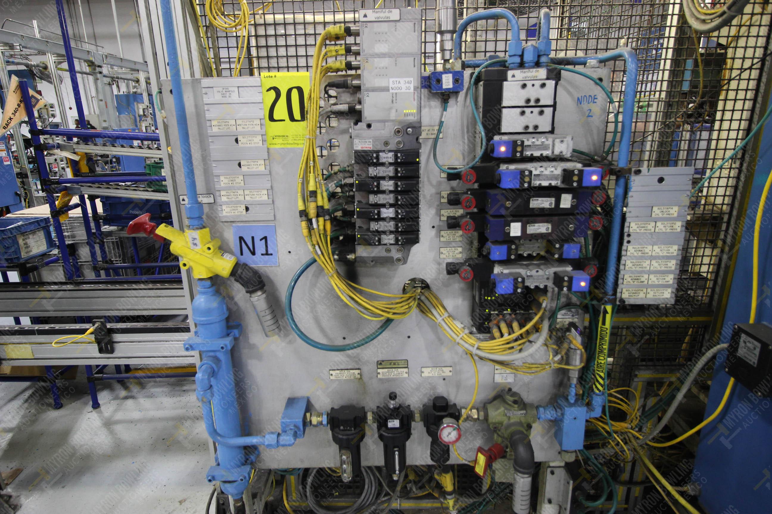 Estación semiautomática para operación 340, contiene: Prensa en estructura de placa de acero - Image 20 of 32