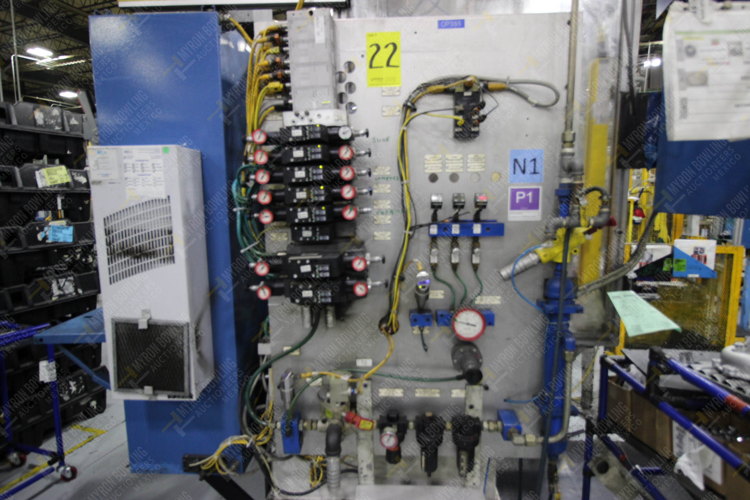 Estación semiautomática para operación 355A, contiene: Prensa en estructura de placa de acero - Image 22 of 36