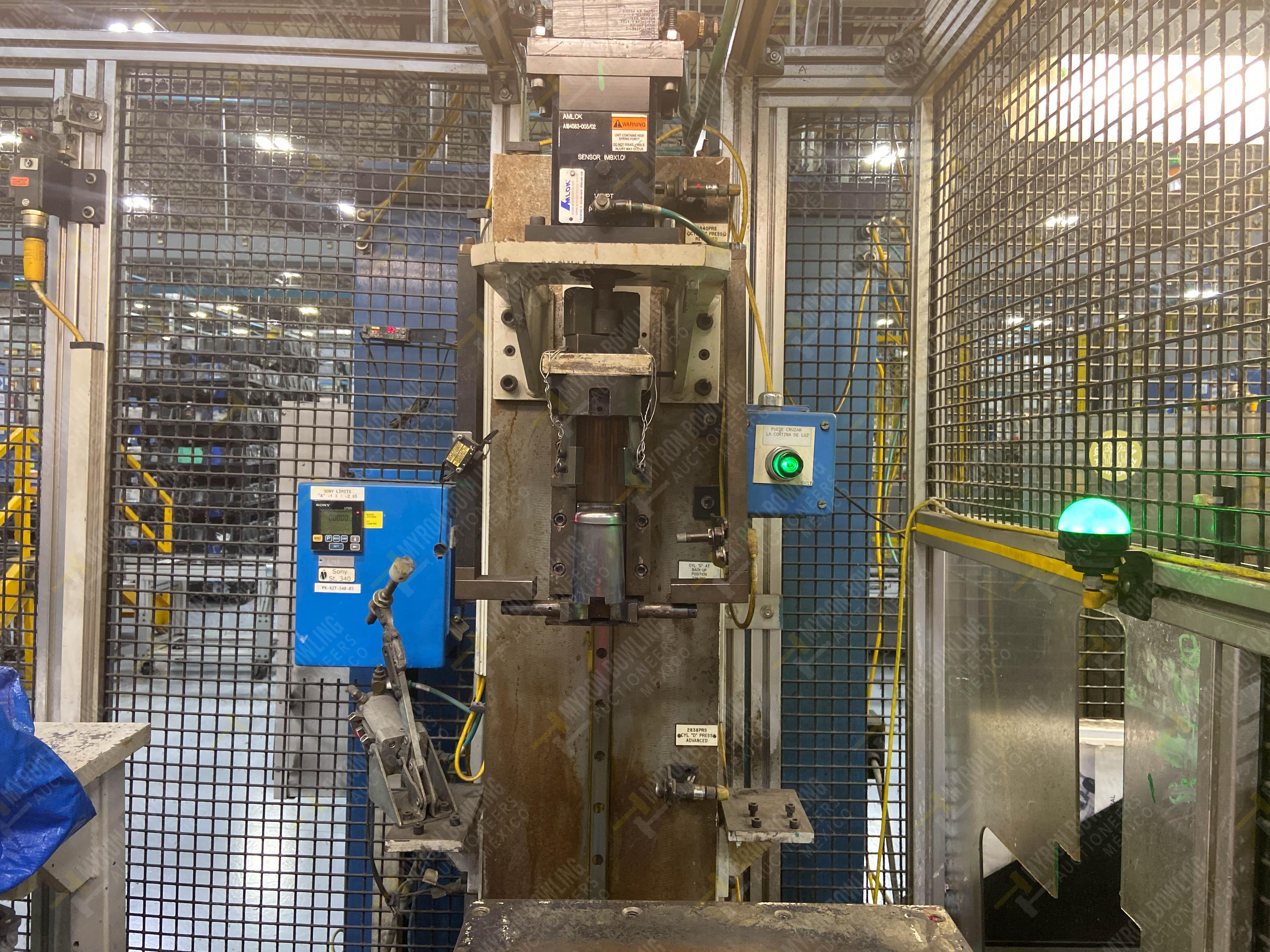 Estación semiautomática para operación 340, contiene: Prensa en estructura de placa de acero - Image 5 of 32