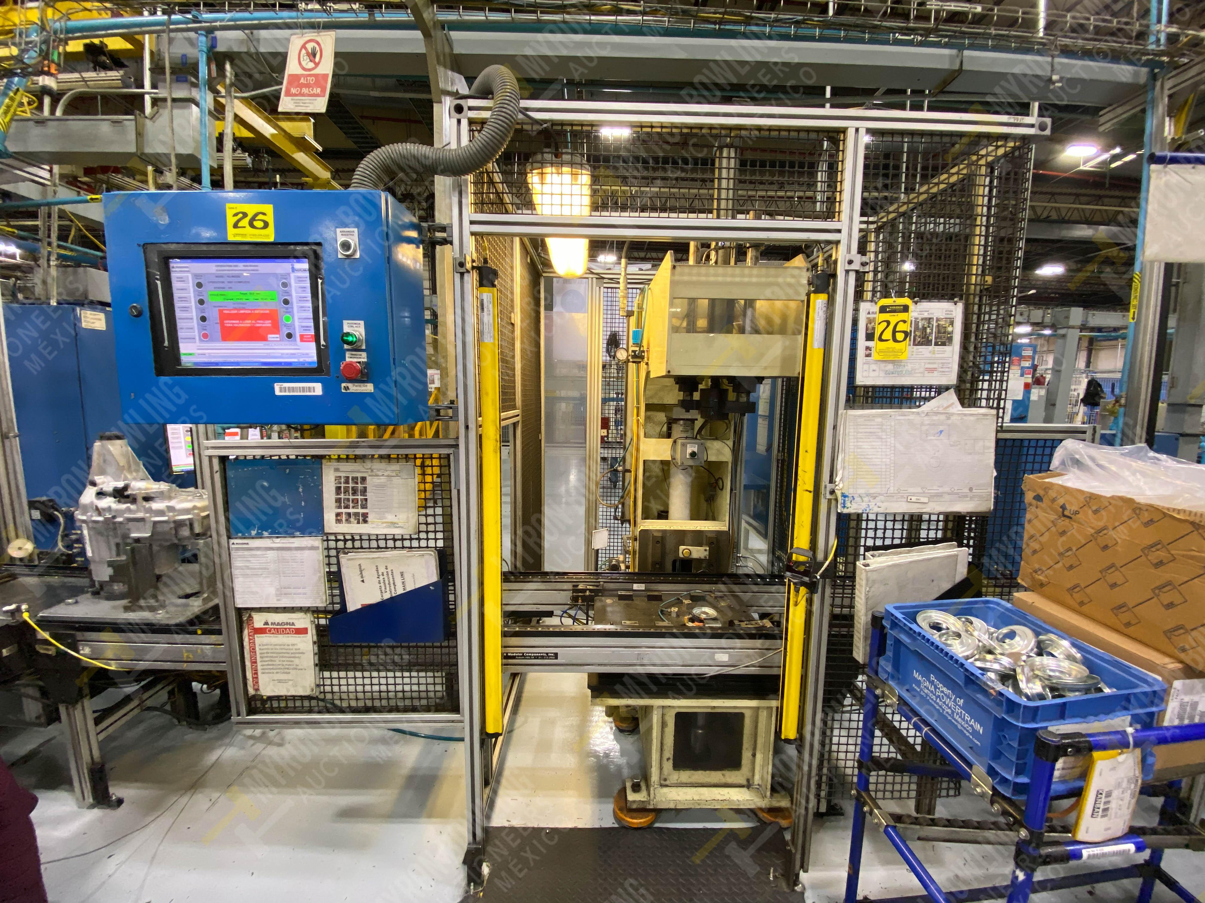 Estación manual para operación 383, contiene: Prensa marca PROMESS en estructura de placa de acero - Image 3 of 27