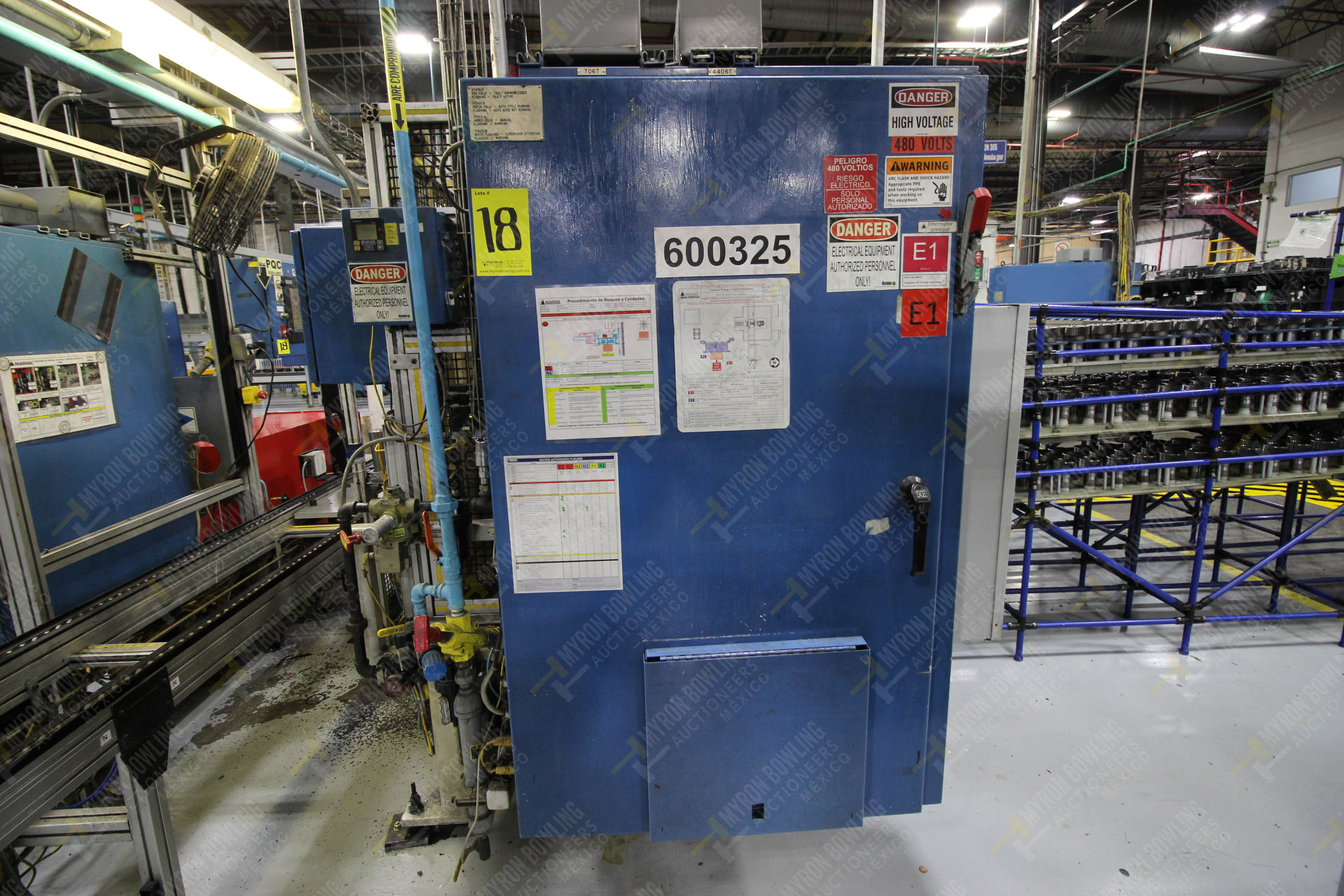Estación semiautomática para operación 325, contiene: Prensa con dos cilindros marca TOX - Image 17 of 24