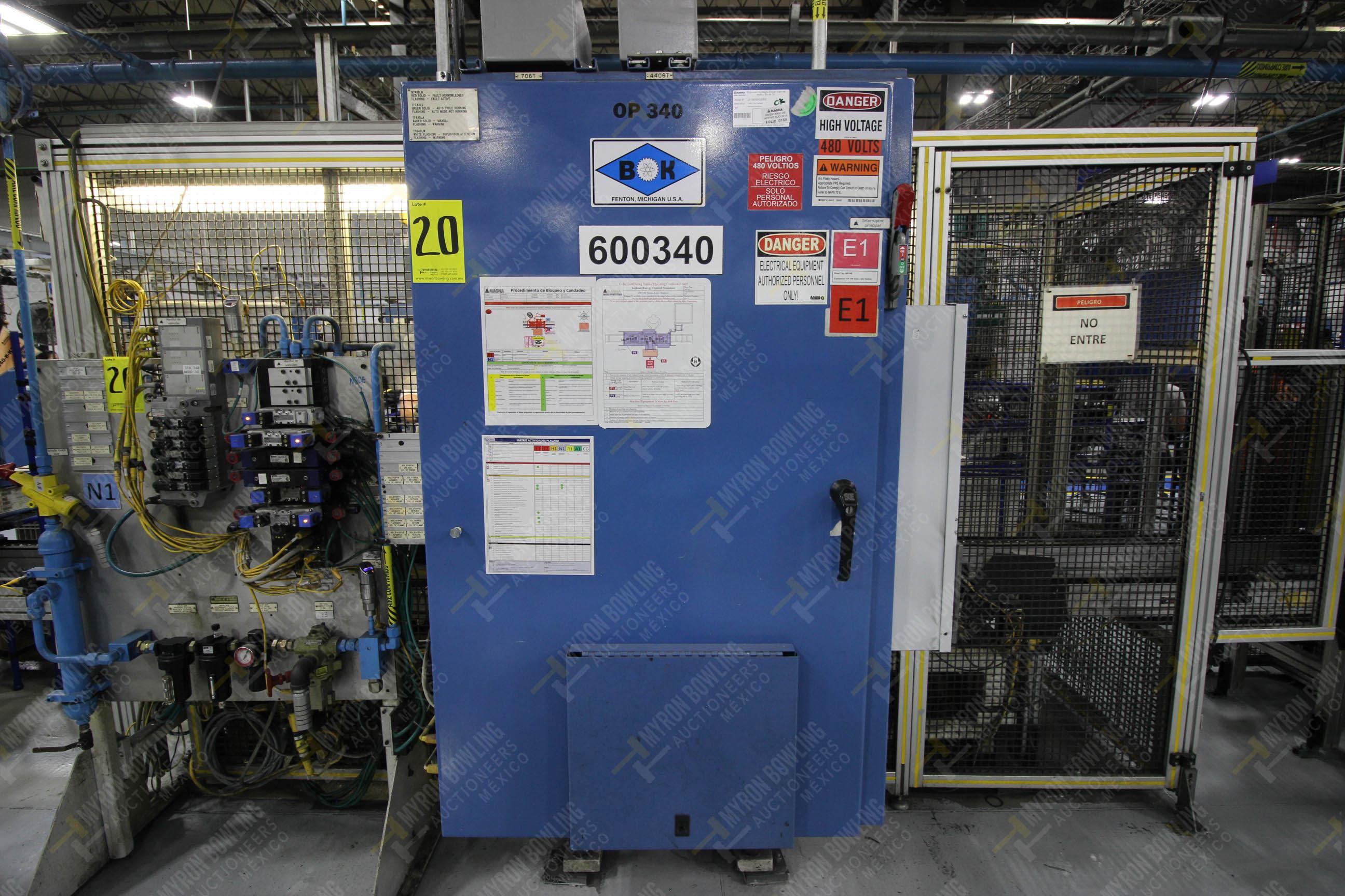 Estación semiautomática para operación 340, contiene: Prensa en estructura de placa de acero - Image 23 of 32