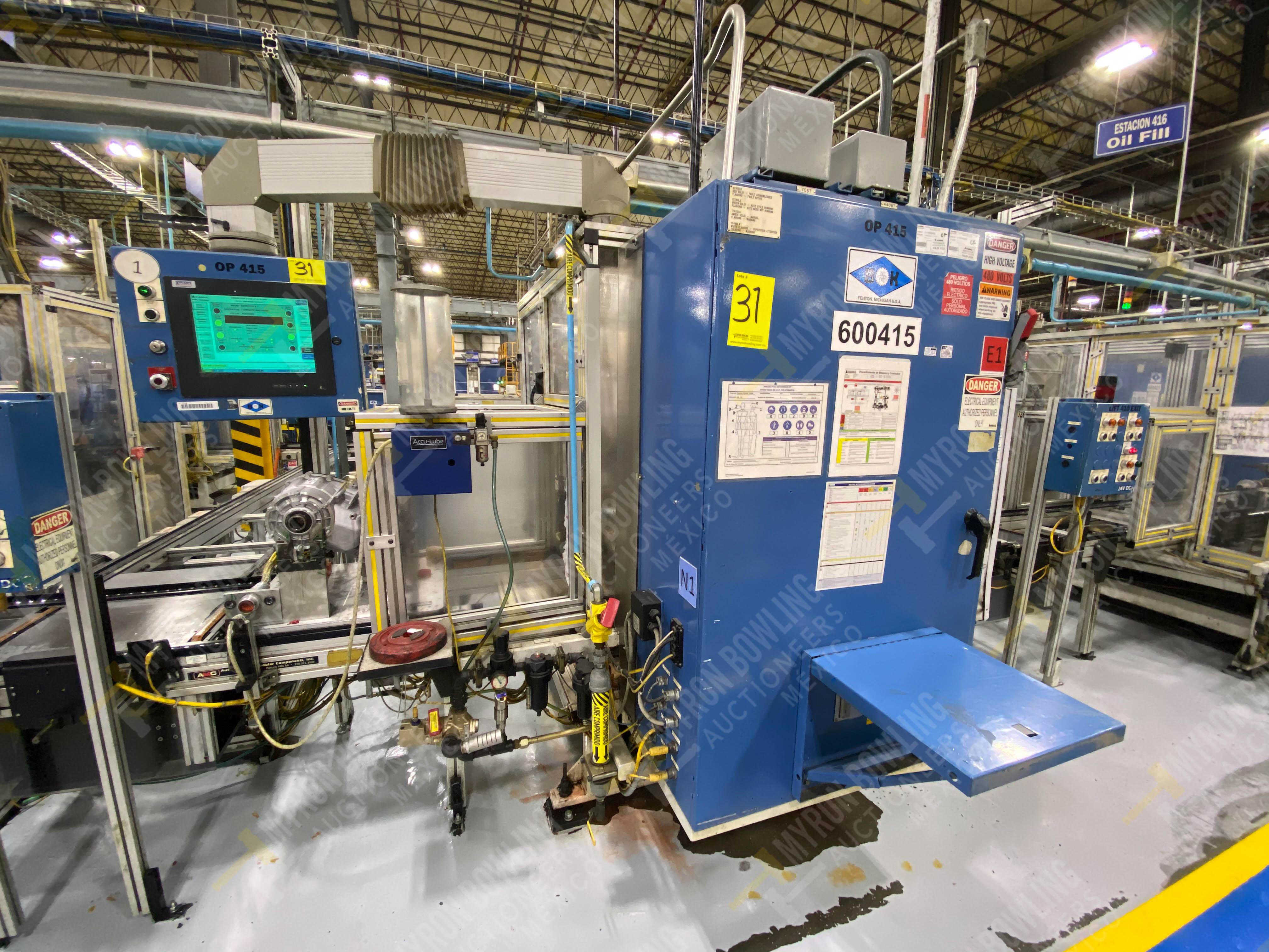 Estación semiautomática para operación 416, contiene: Sistema de llenado de aceite - Image 4 of 20