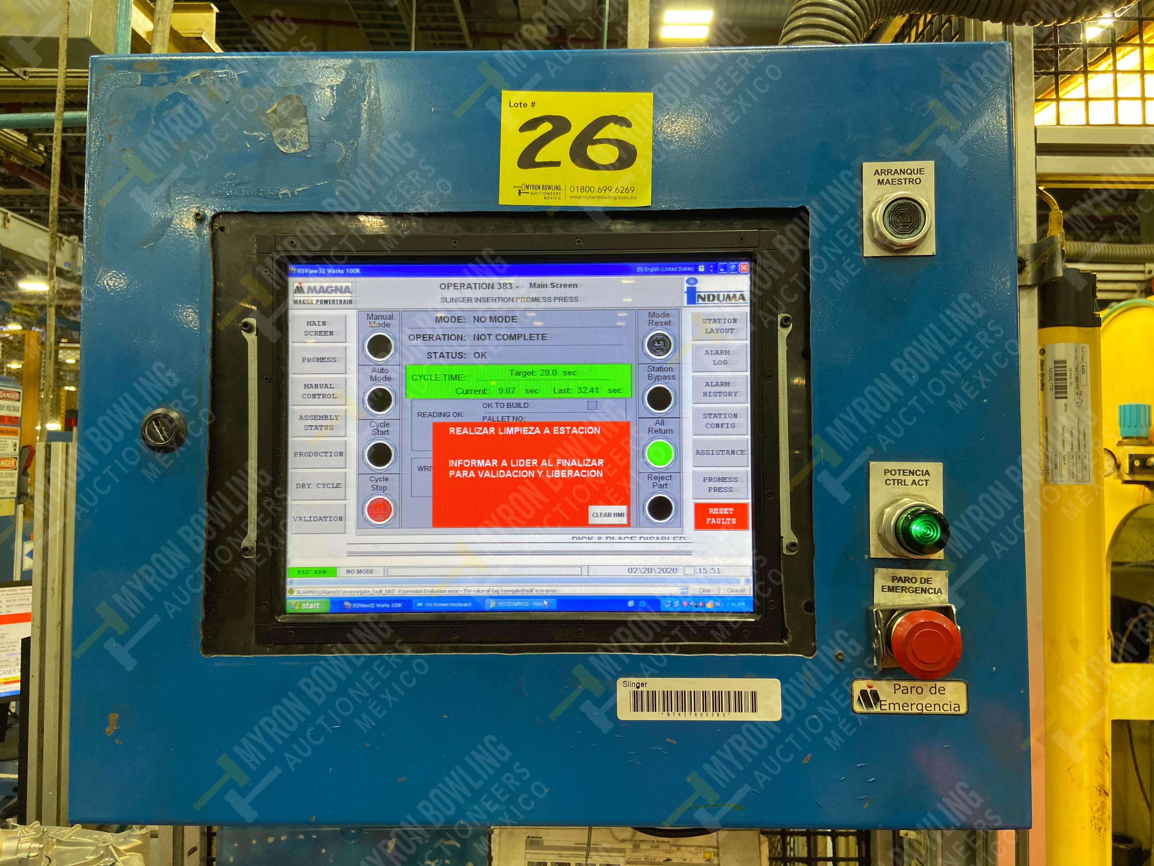 Estación manual para operación 383, contiene: Prensa marca PROMESS en estructura de placa de acero - Image 25 of 27