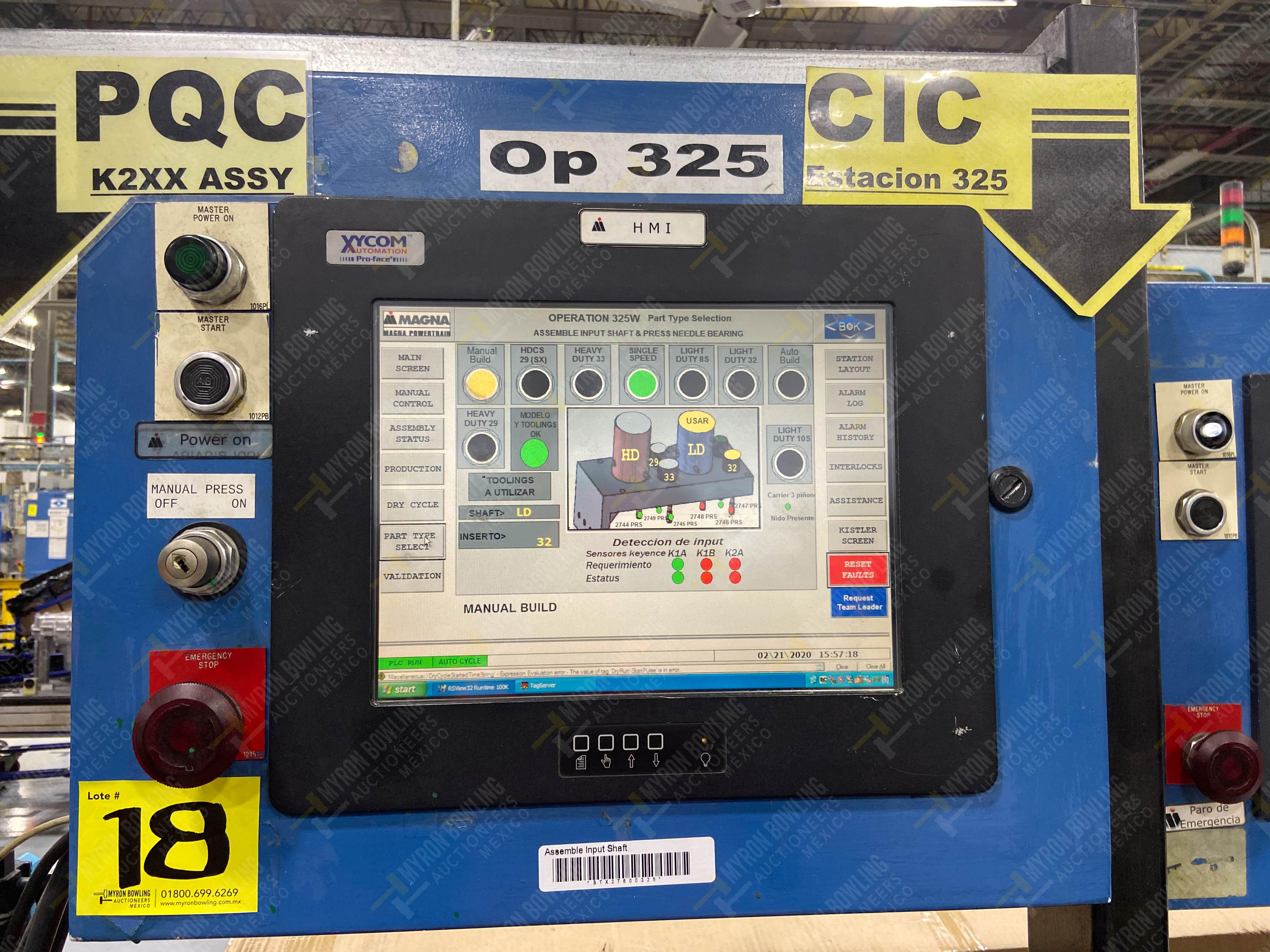 Estación semiautomática para operación 325, contiene: Prensa con dos cilindros marca TOX - Image 22 of 24