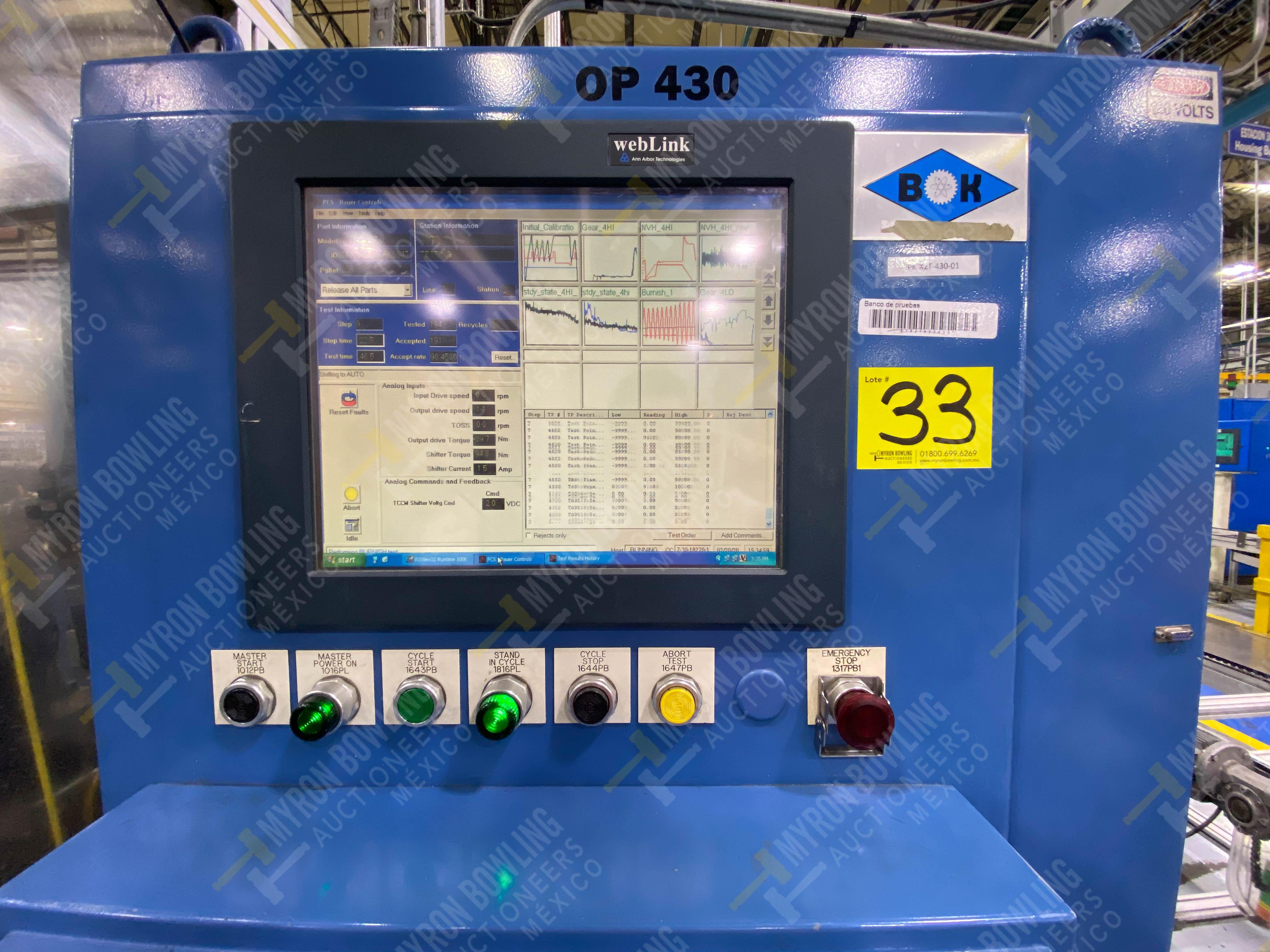 Estación semiautomática para operación 430, contiene: Máquina dinamómetro con sistema de revolución - Image 31 of 32
