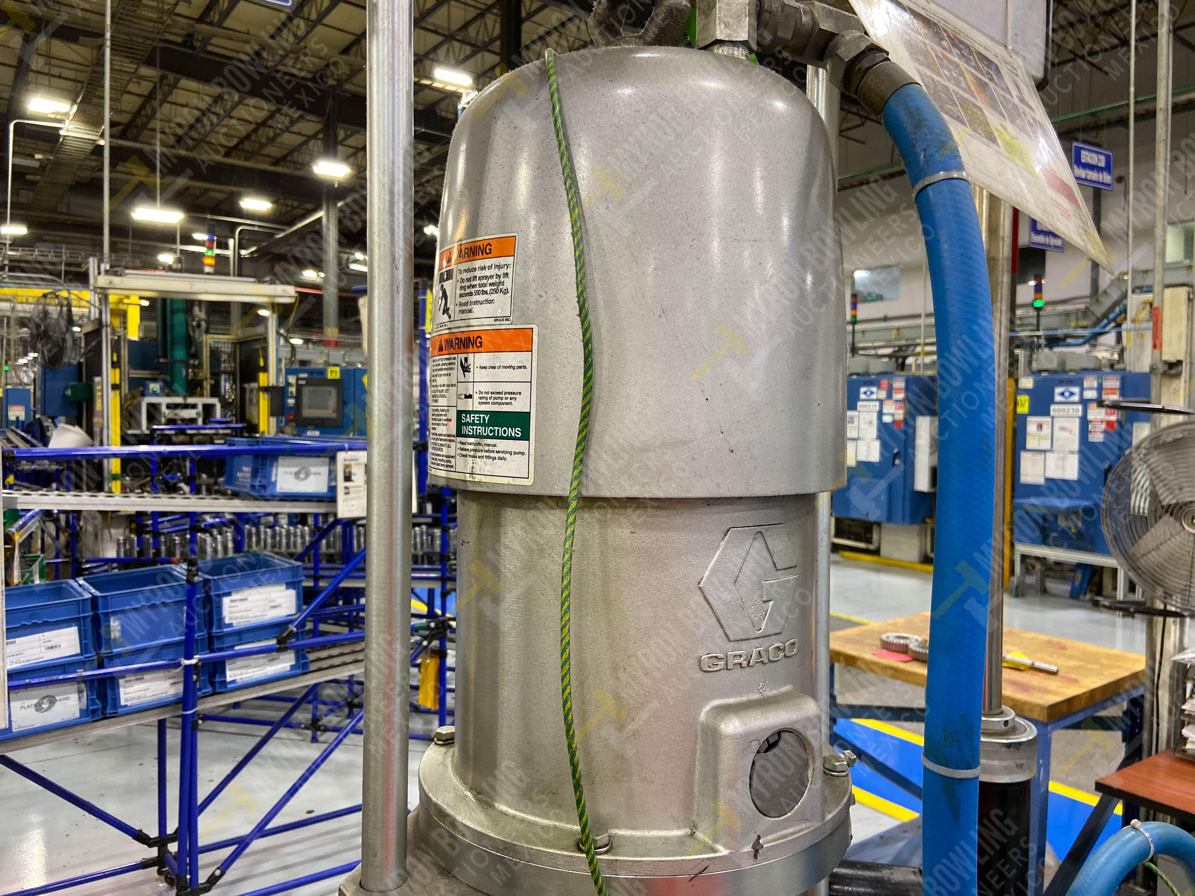 Dos sistemas de dispensador de sellador RTV (bombas) marca Graco Bulldog, 8.3 L/min max - Image 8 of 12