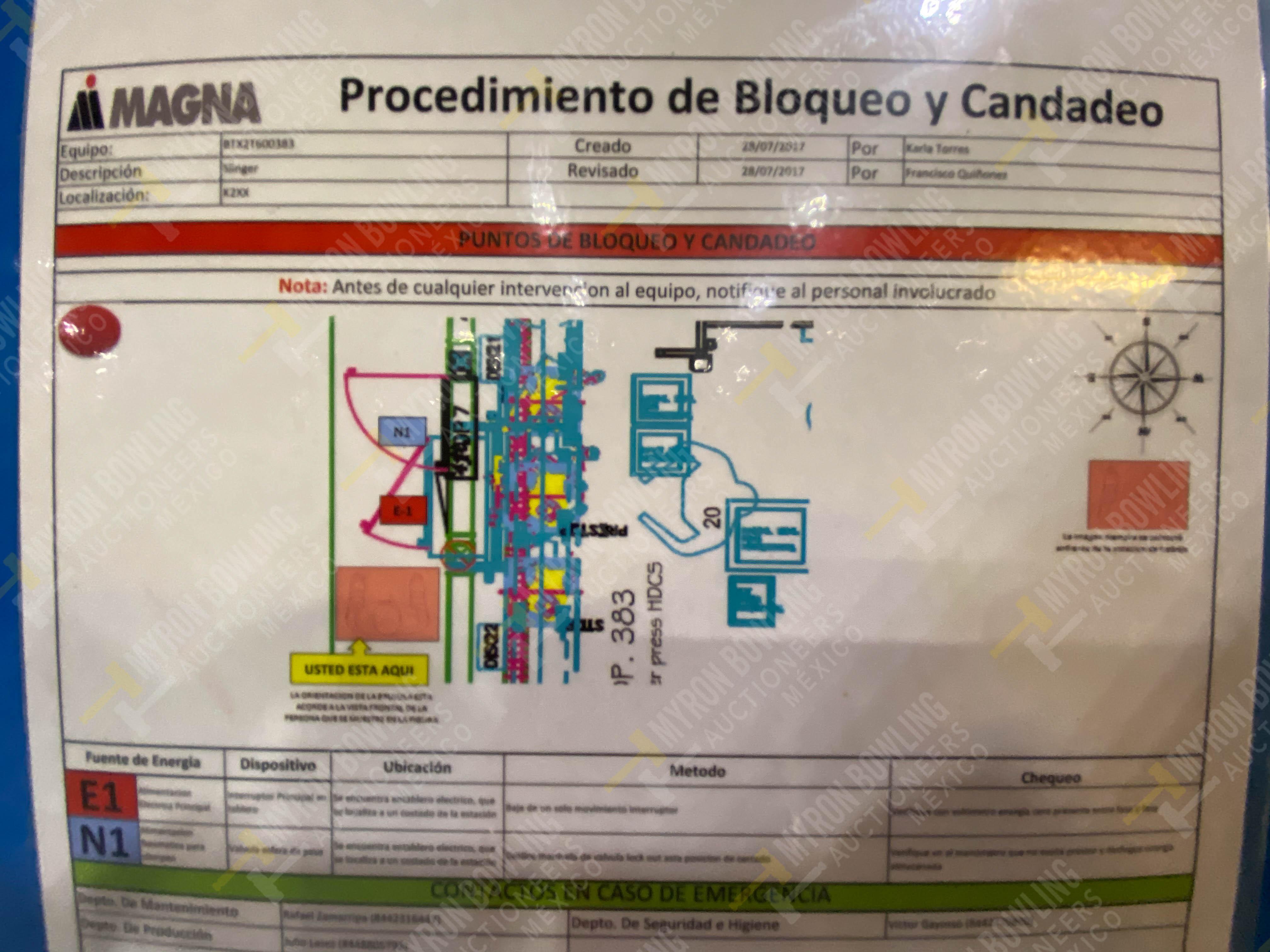 Estación manual para operación 383, contiene: Prensa marca PROMESS en estructura de placa de acero - Image 26 of 27