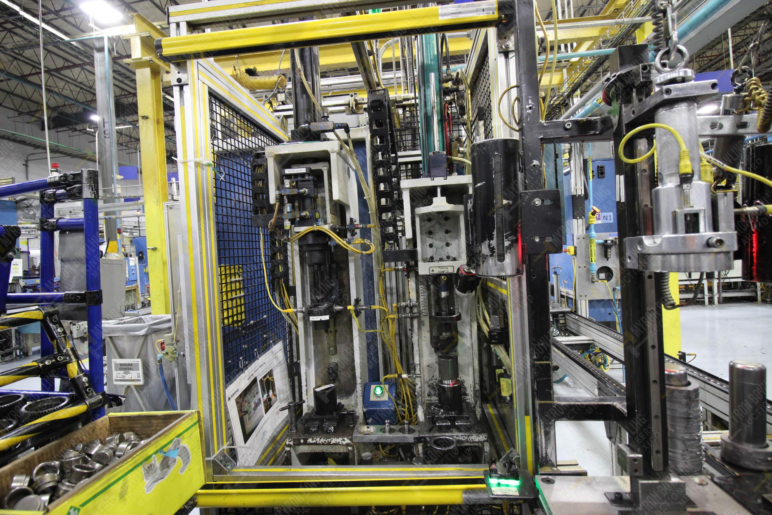 Estación semiautomática para operación 325, contiene: Prensa con dos cilindros marca TOX - Image 8 of 24