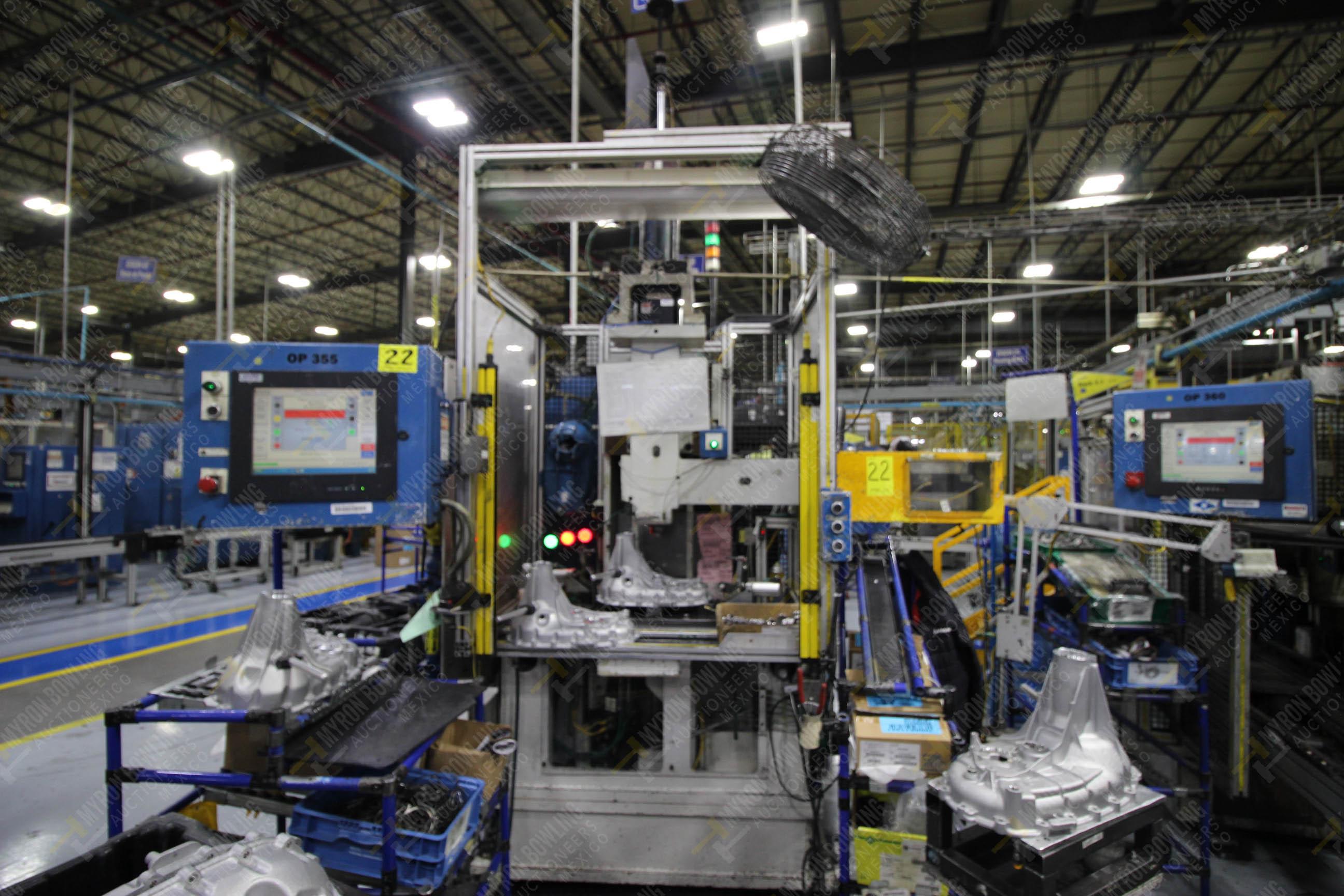 Estación semiautomática para operación 355A, contiene: Prensa en estructura de placa de acero - Image 6 of 36