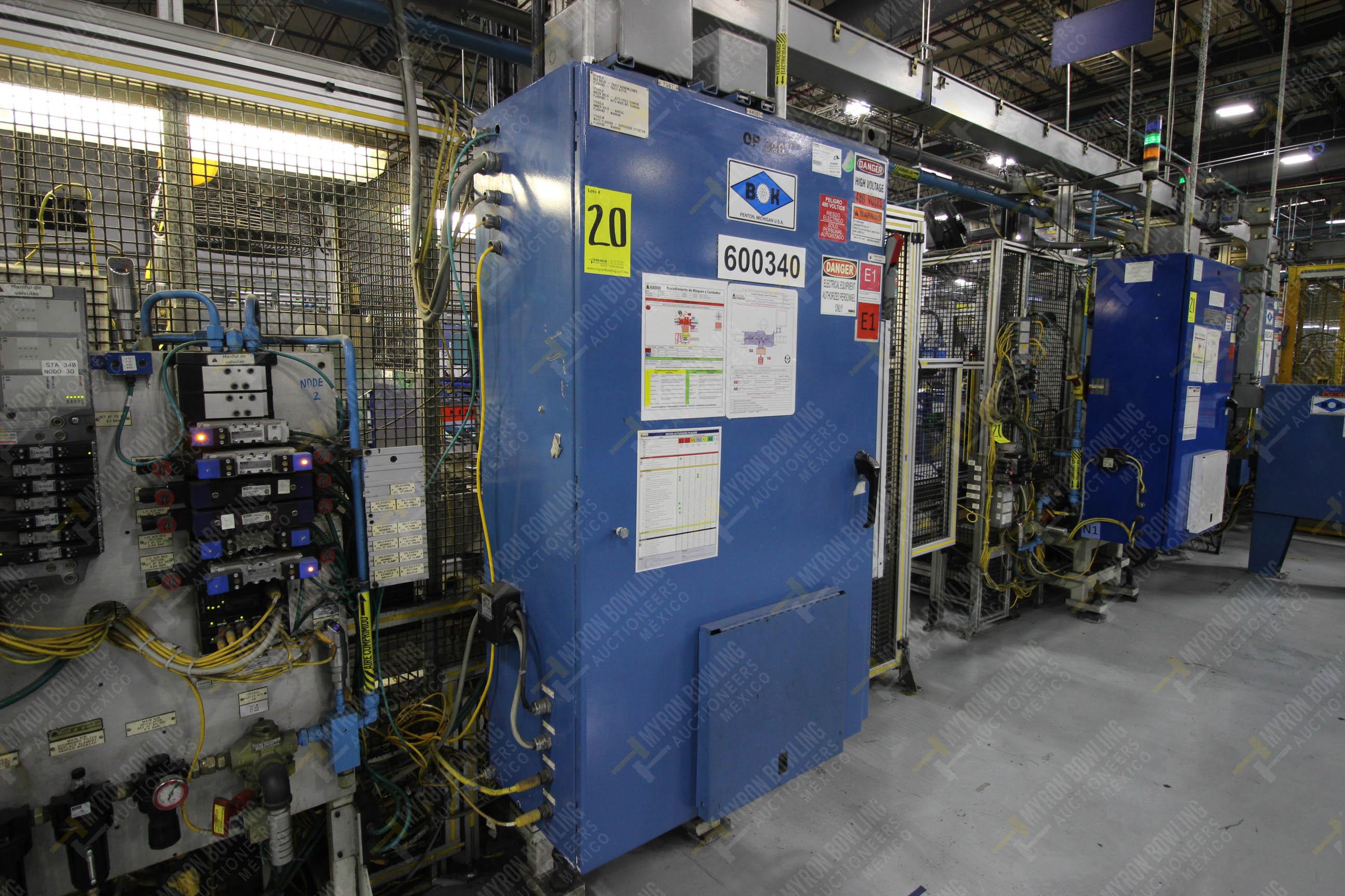 Estación semiautomática para operación 340, contiene: Prensa en estructura de placa de acero - Image 21 of 32
