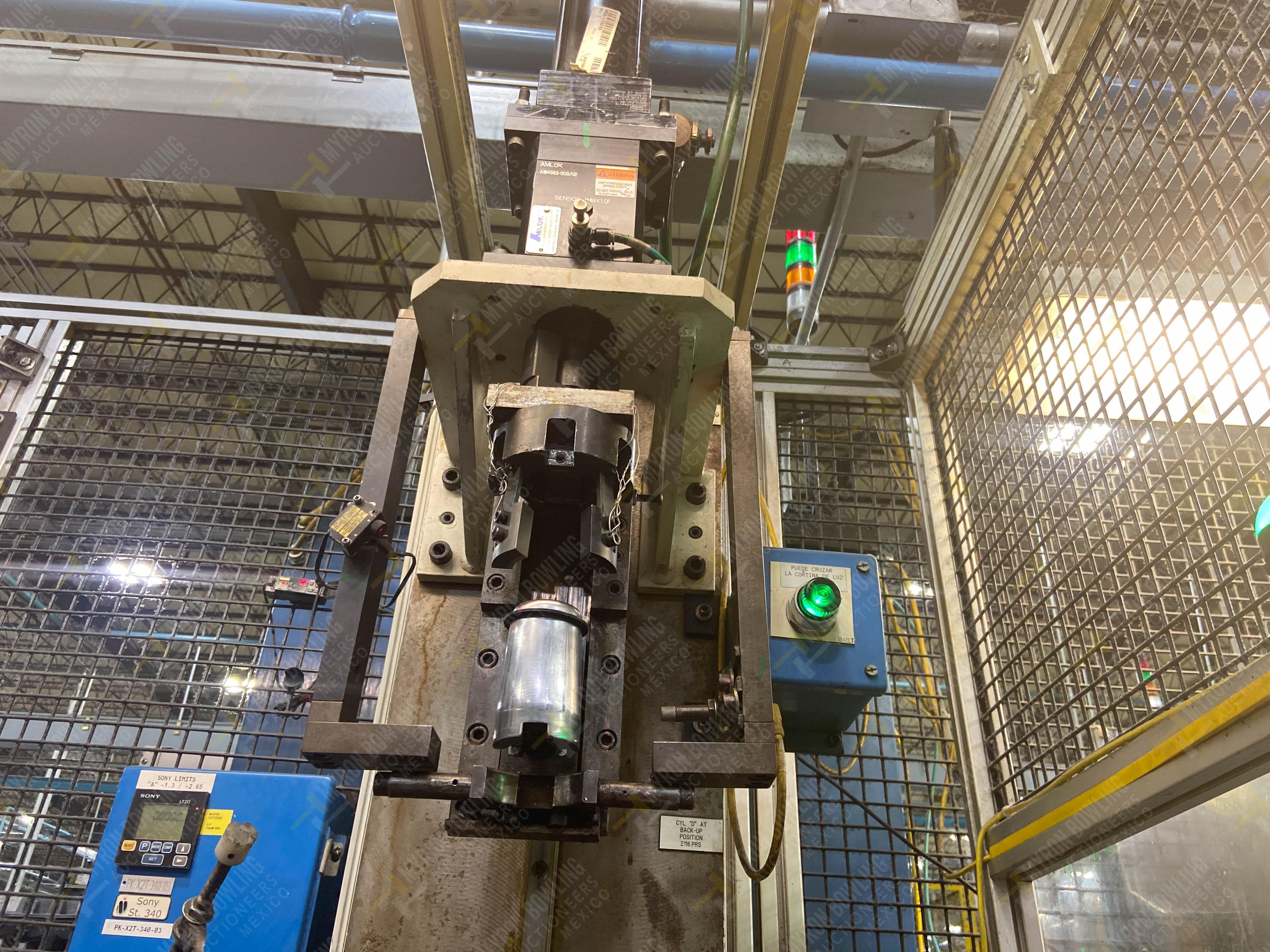 Estación semiautomática para operación 340, contiene: Prensa en estructura de placa de acero - Image 9 of 32
