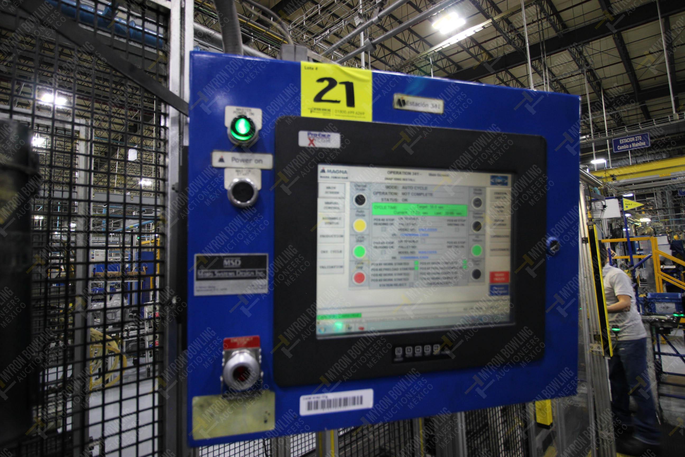 Estación semiautomática para operación 341, contiene: Prensa en estructura de placa de acero - Image 25 of 26