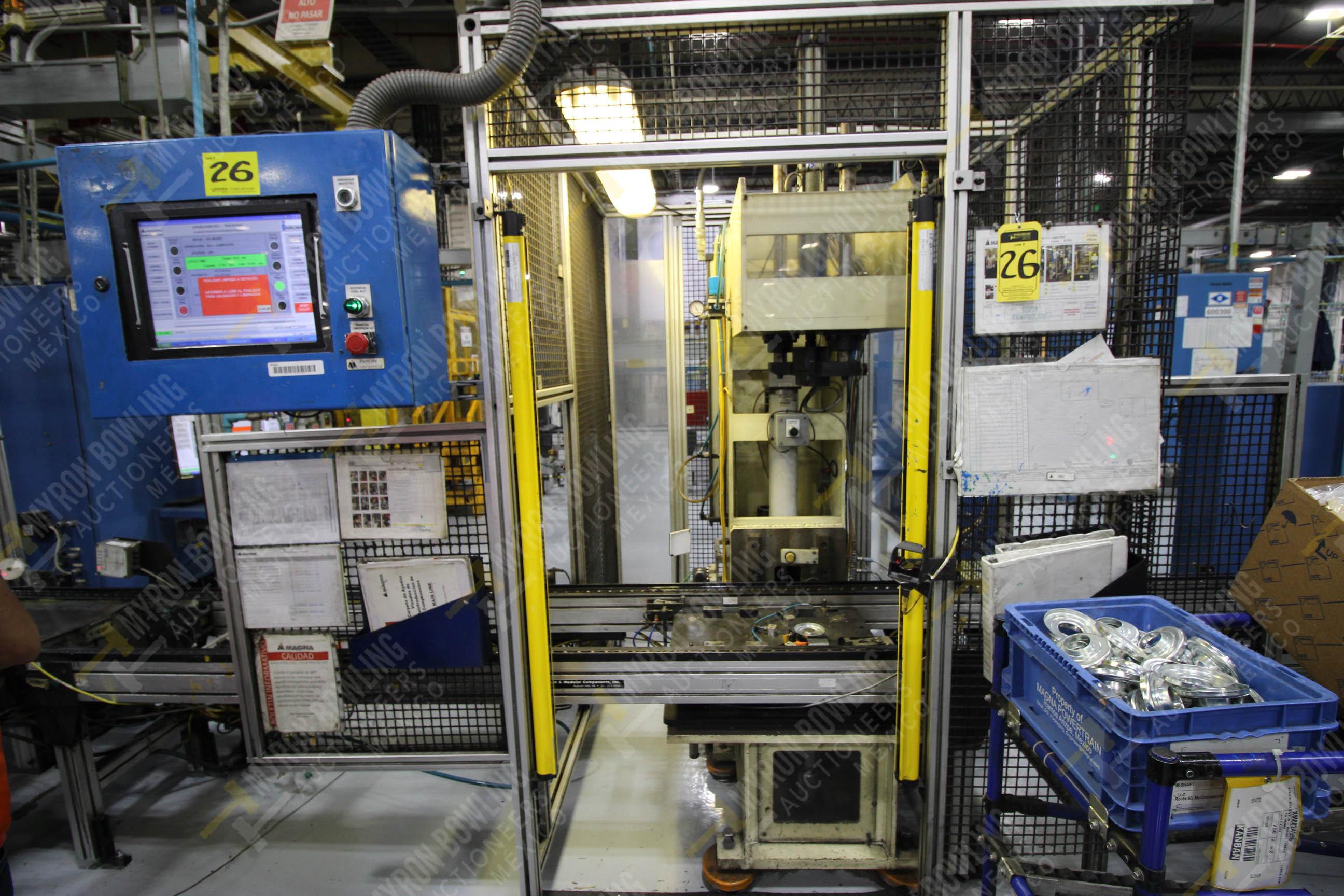 Estación manual para operación 383, contiene: Prensa marca PROMESS en estructura de placa de acero - Image 2 of 27