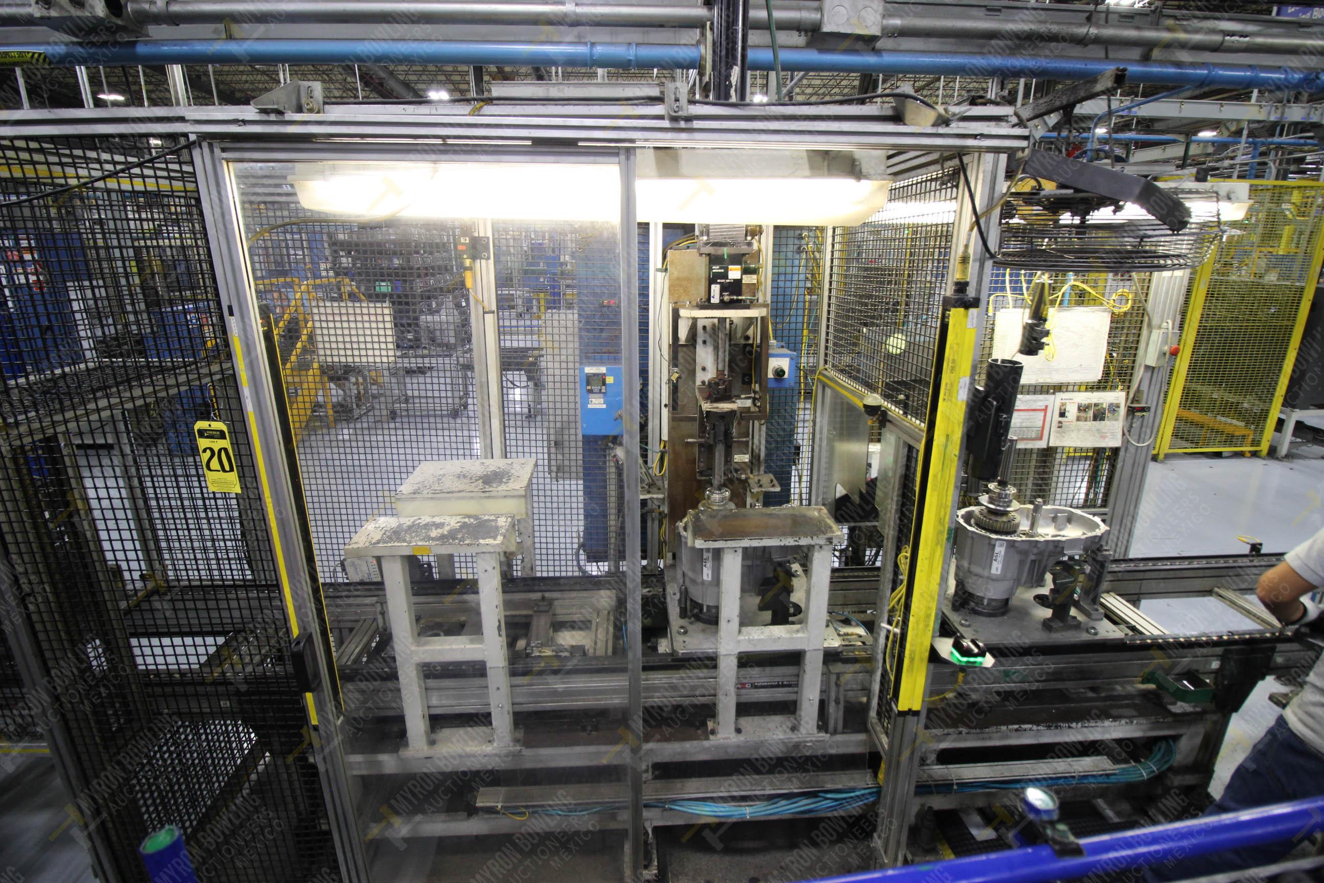 Estación semiautomática para operación 340, contiene: Prensa en estructura de placa de acero - Image 2 of 32