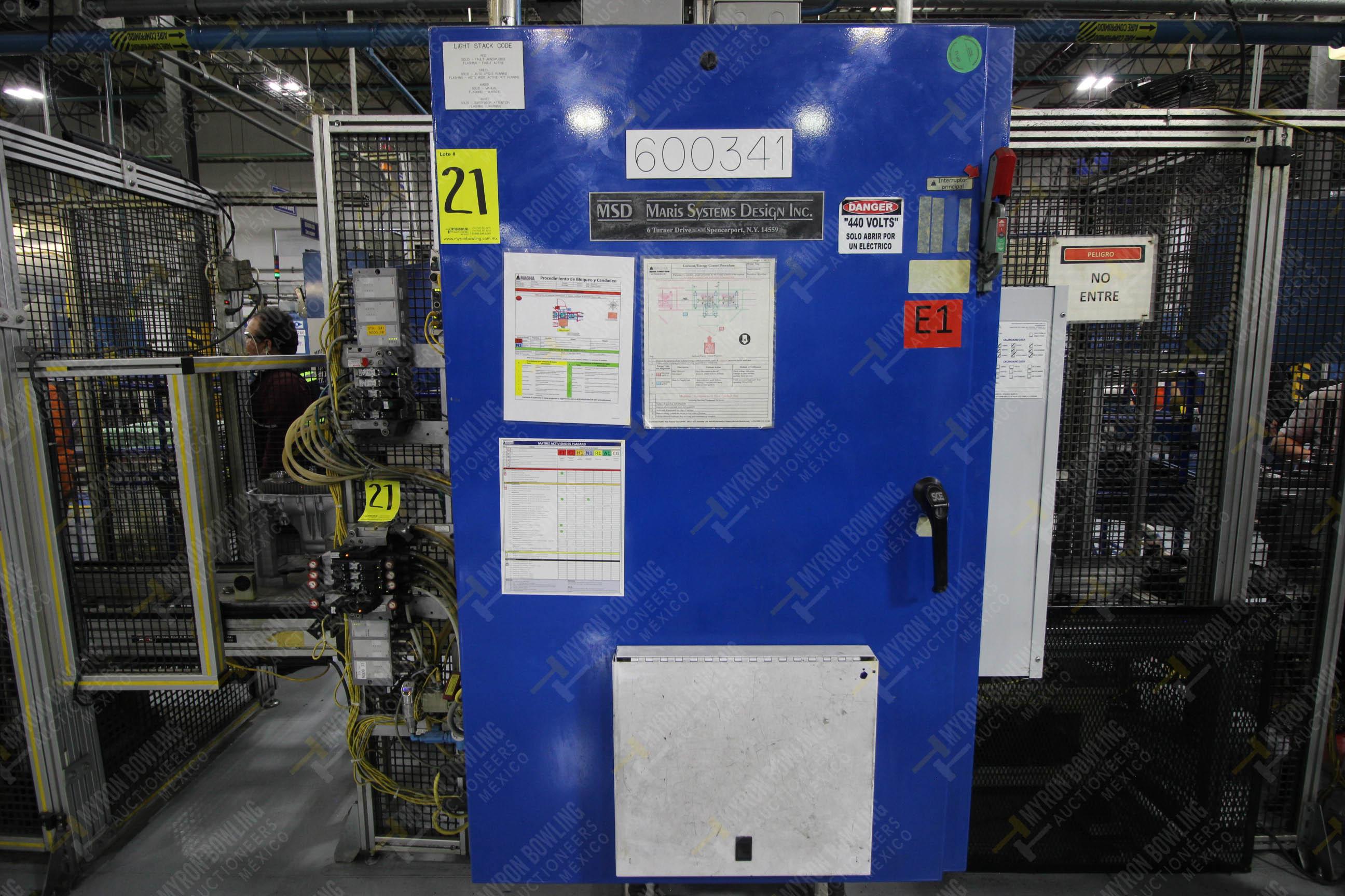 Estación semiautomática para operación 341, contiene: Prensa en estructura de placa de acero - Image 16 of 26