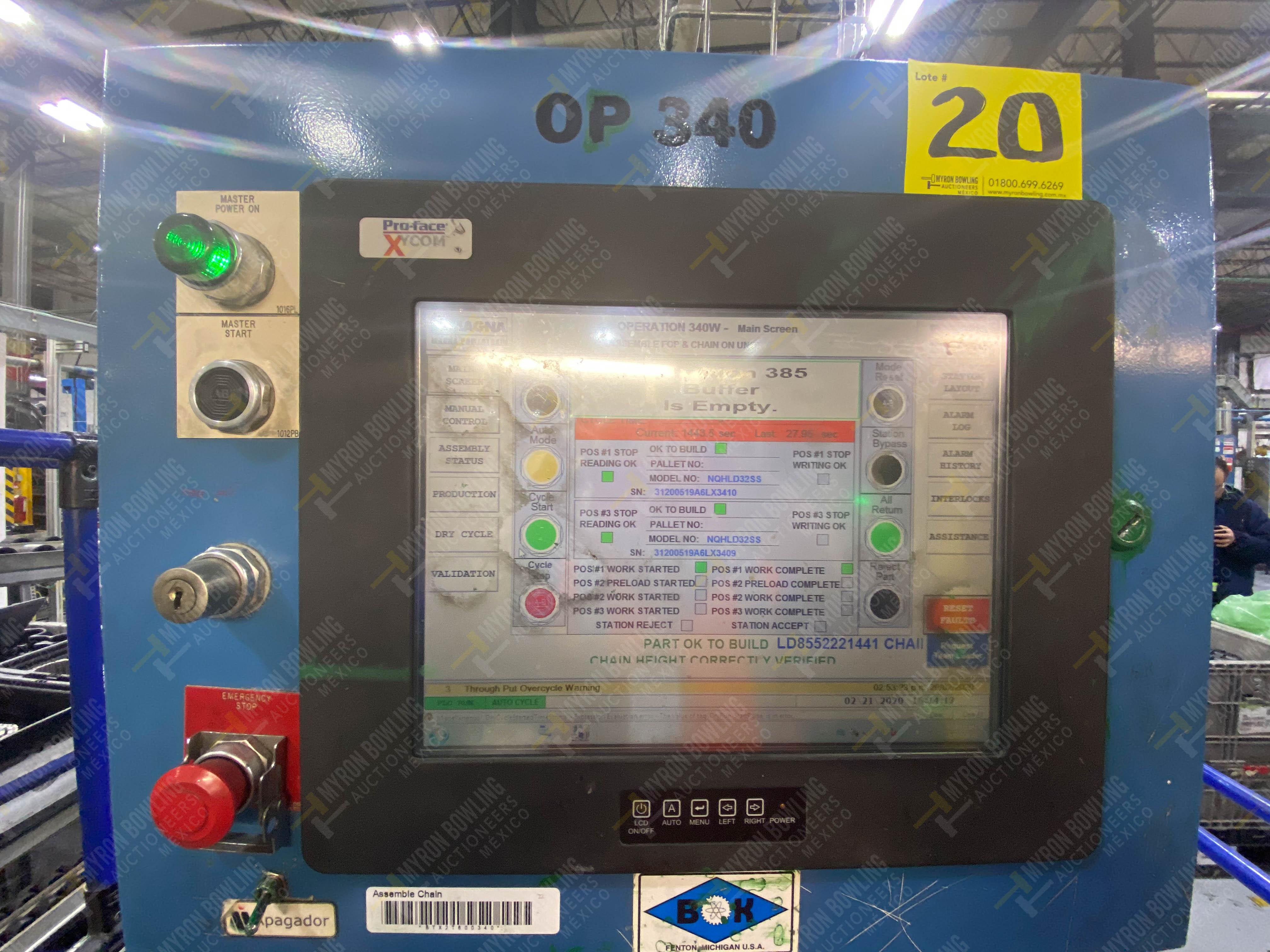 Estación semiautomática para operación 340, contiene: Prensa en estructura de placa de acero - Image 31 of 32