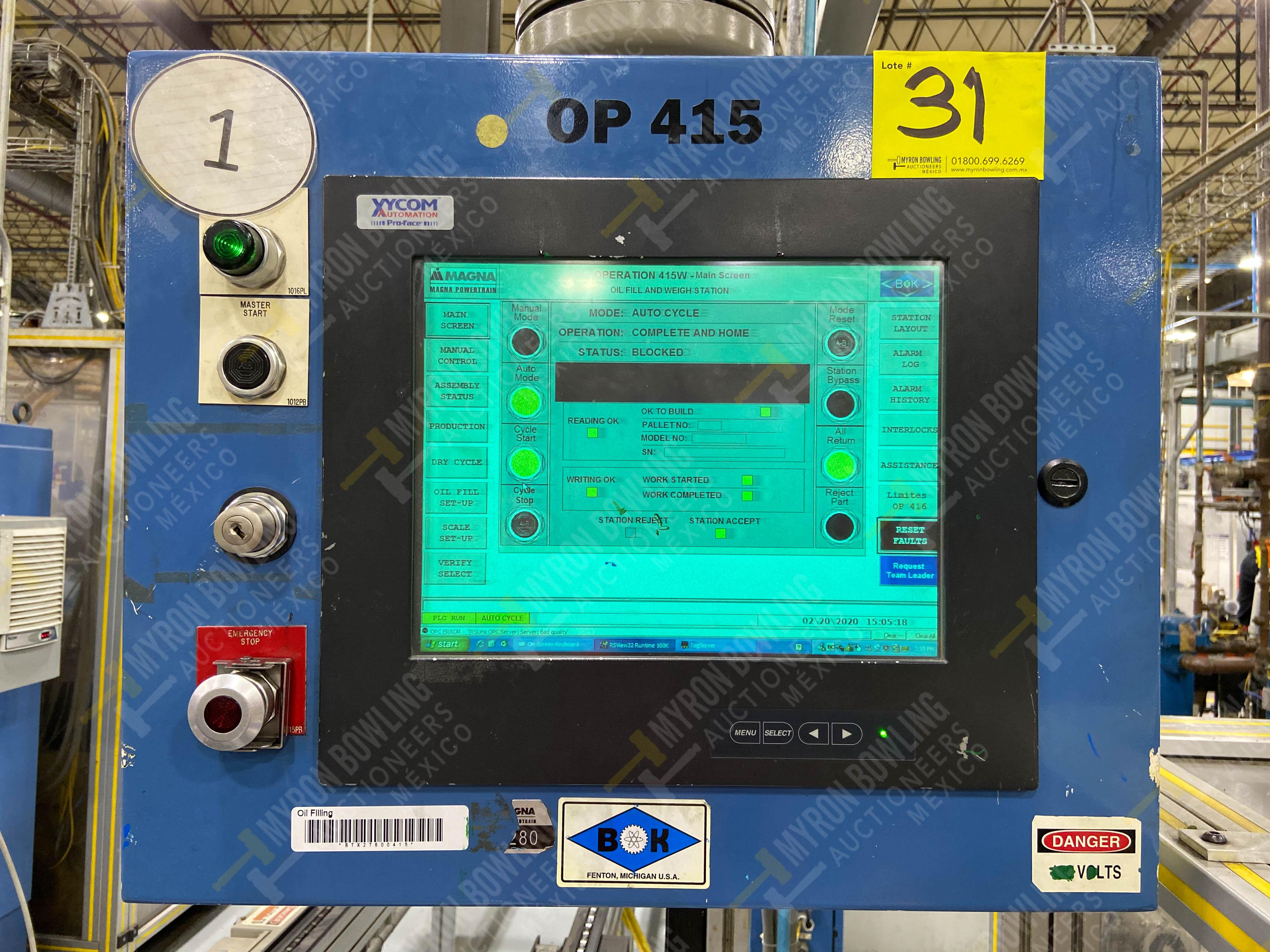 Estación semiautomática para operación 416, contiene: Sistema de llenado de aceite - Image 19 of 20