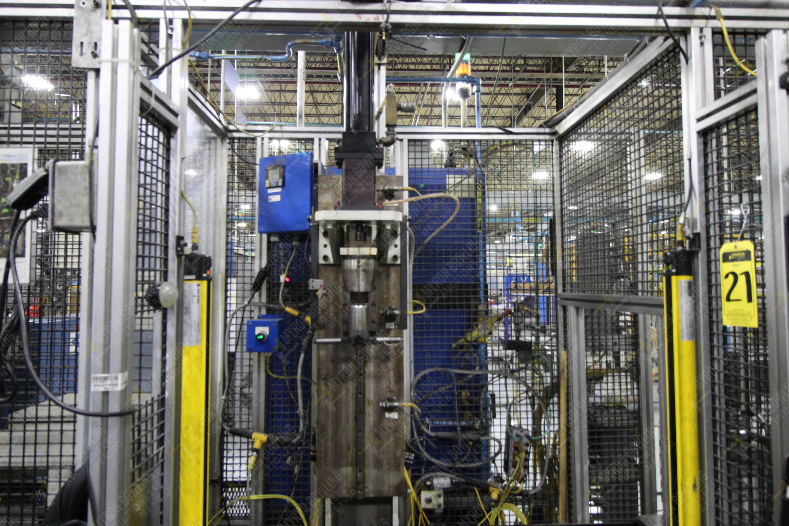 Estación semiautomática para operación 341, contiene: Prensa en estructura de placa de acero - Image 5 of 26