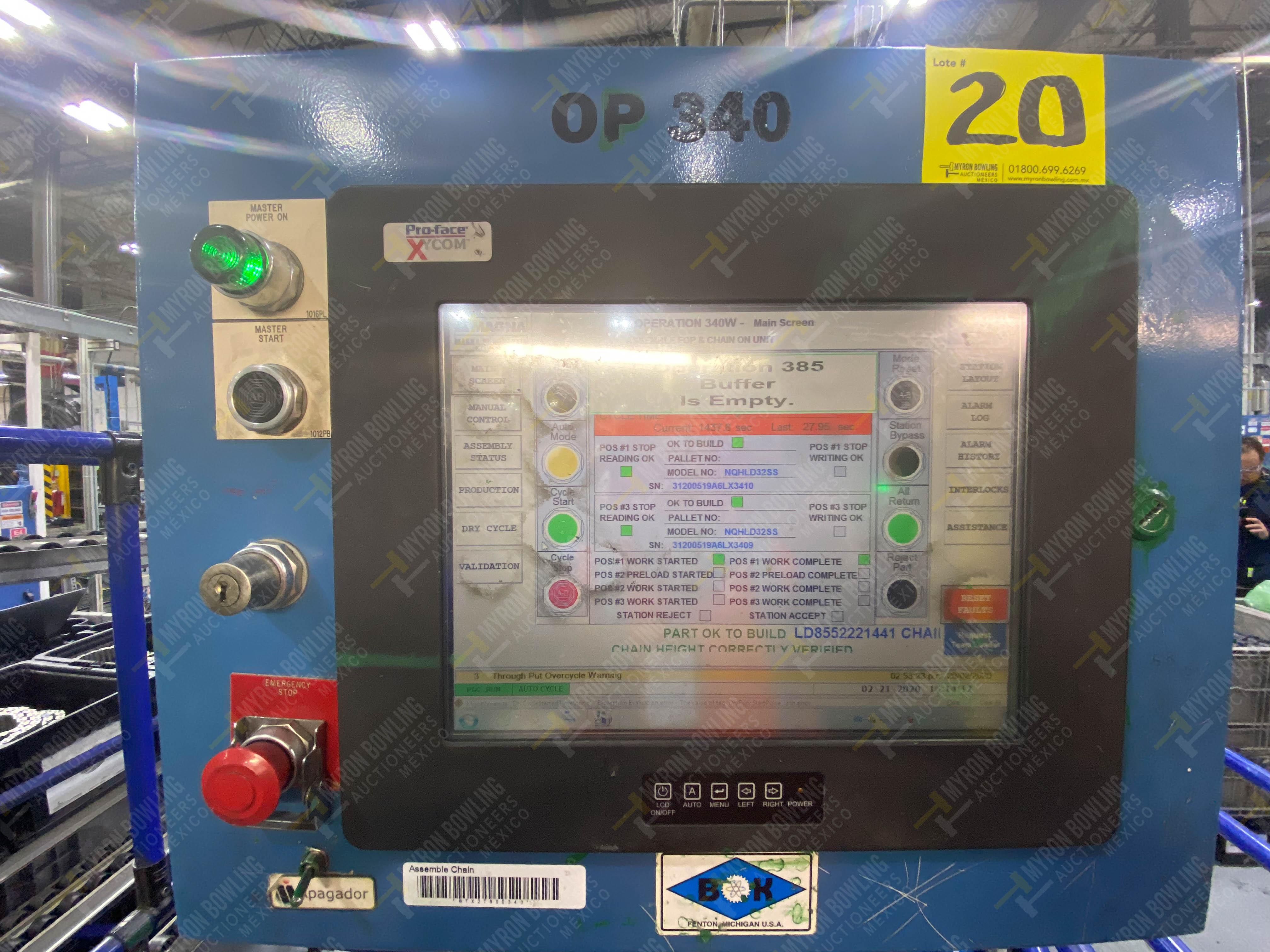 Estación semiautomática para operación 340, contiene: Prensa en estructura de placa de acero - Image 29 of 32