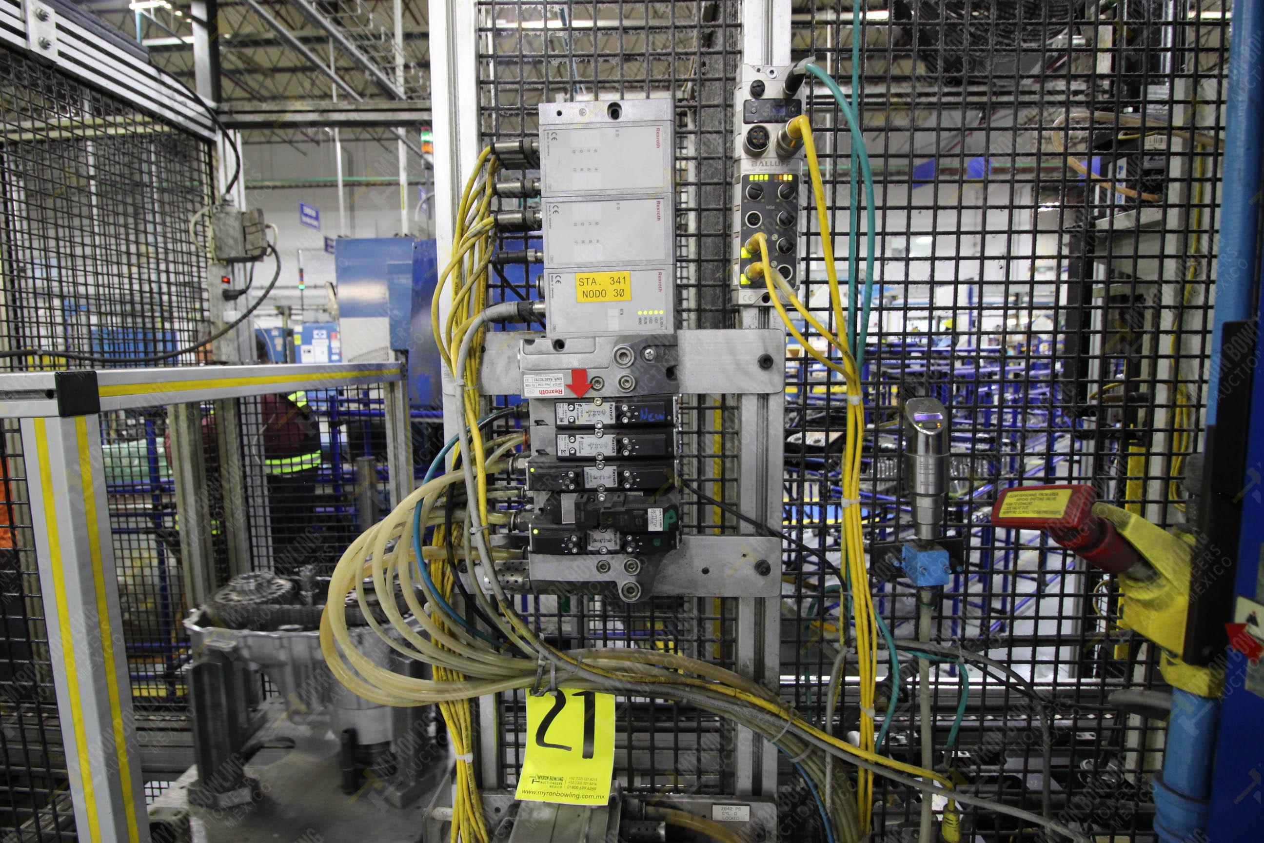Estación semiautomática para operación 341, contiene: Prensa en estructura de placa de acero - Image 14 of 26