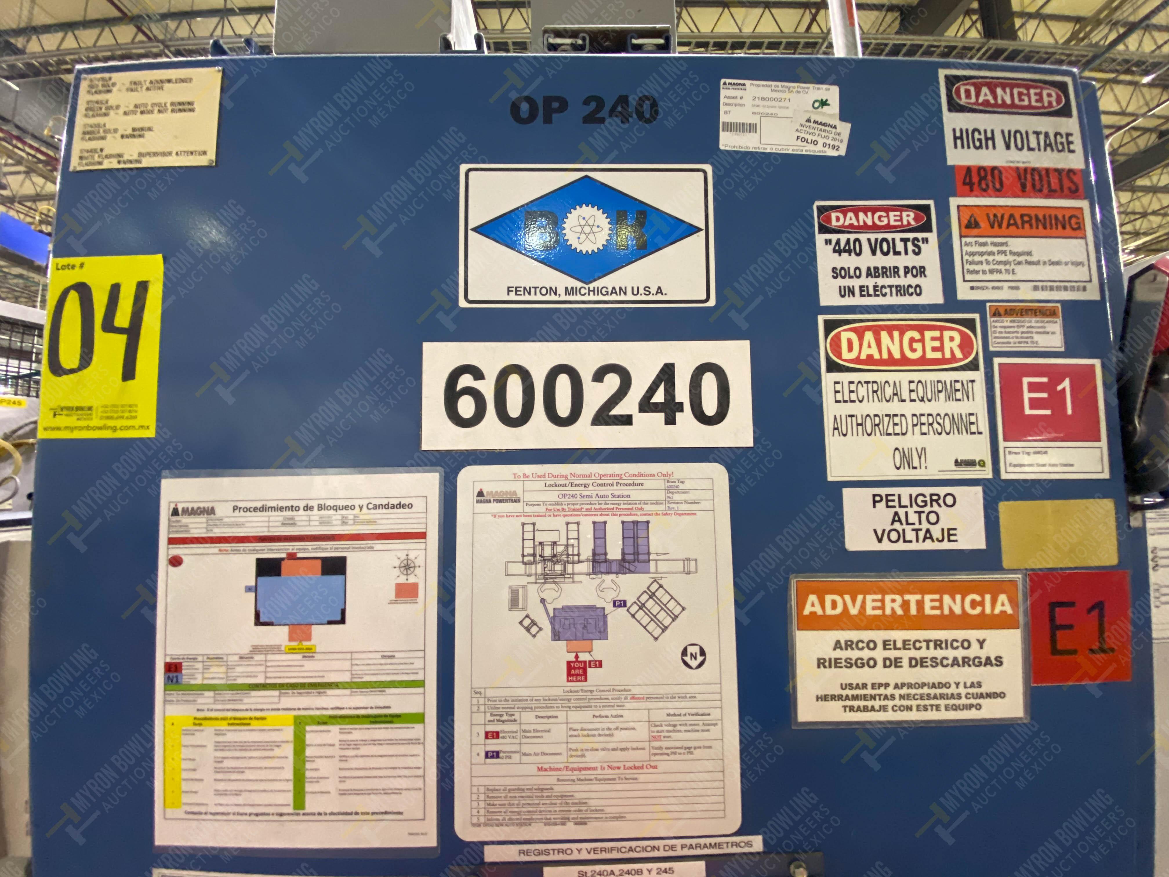 Estación semiautomática para operación 240A de ensamble de balero - Image 24 of 29