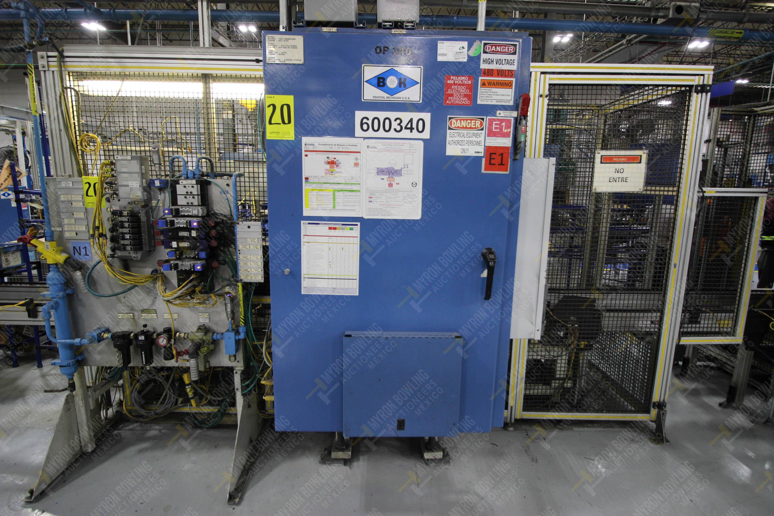 Estación semiautomática para operación 340, contiene: Prensa en estructura de placa de acero - Image 26 of 32