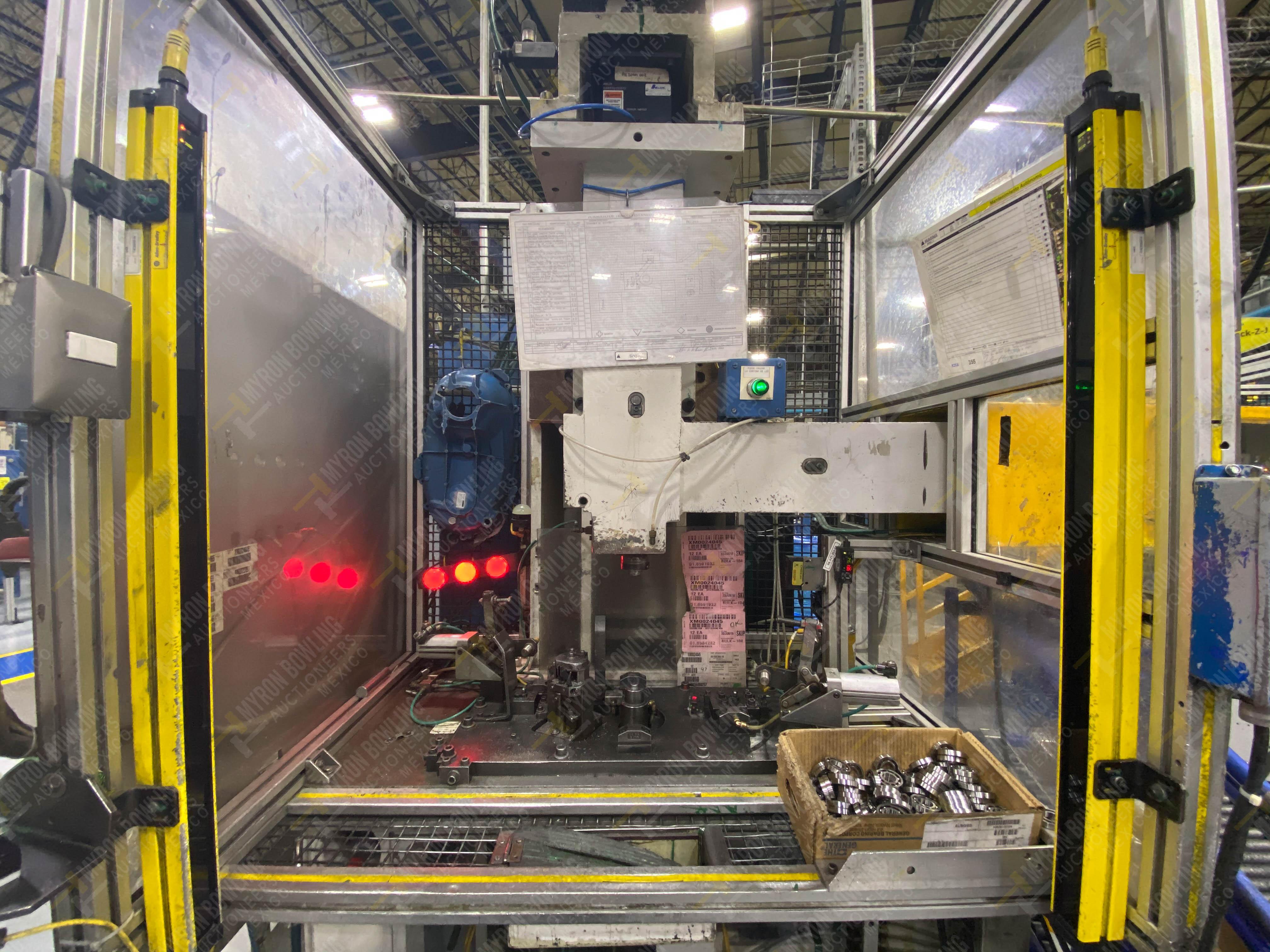 Estación semiautomática para operación 355A, contiene: Prensa en estructura de placa de acero - Image 9 of 36