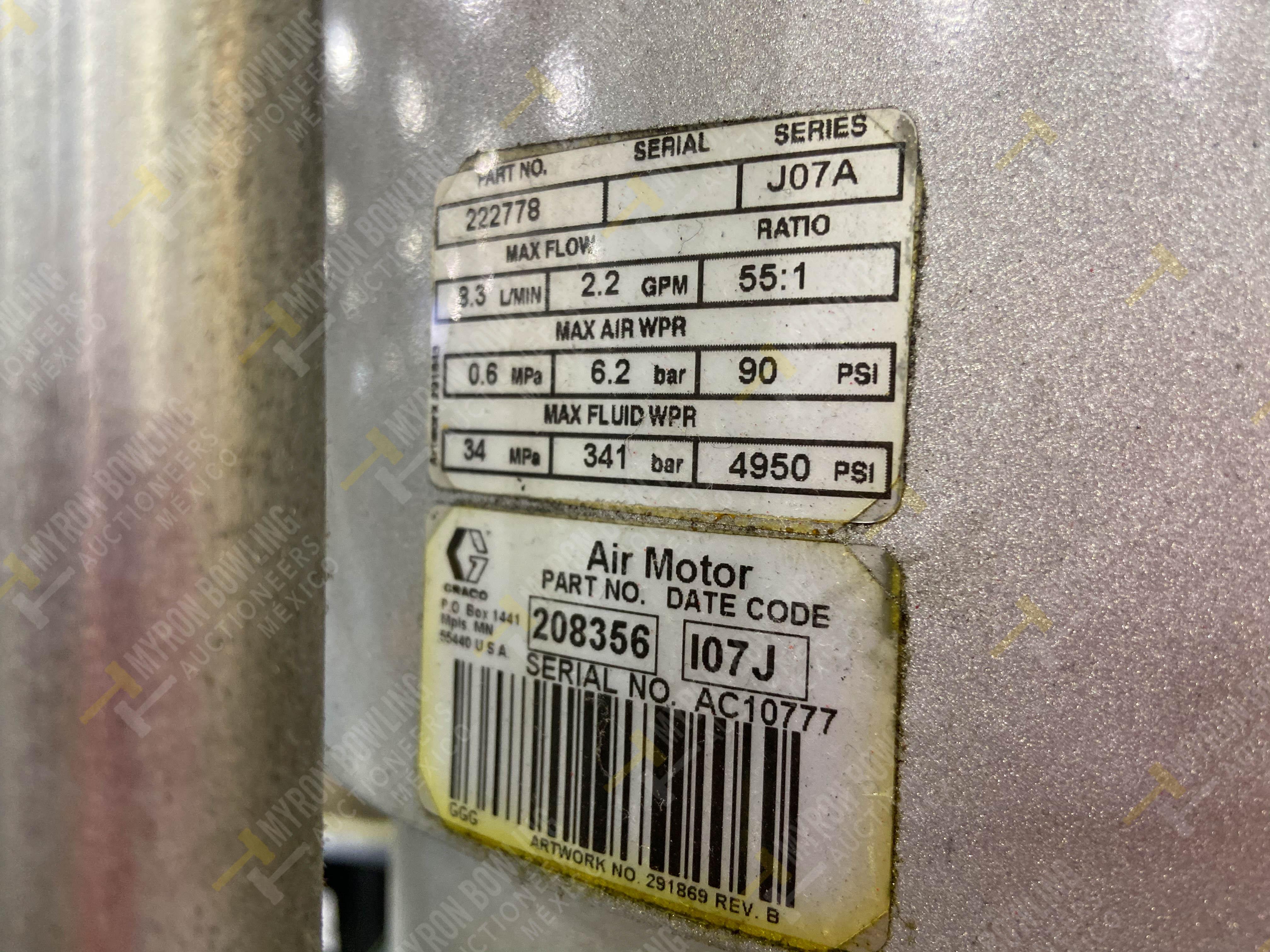Dos sistemas de dispensador de sellador RTV (bombas) marca Graco Bulldog, 8.3 L/min max - Image 11 of 12