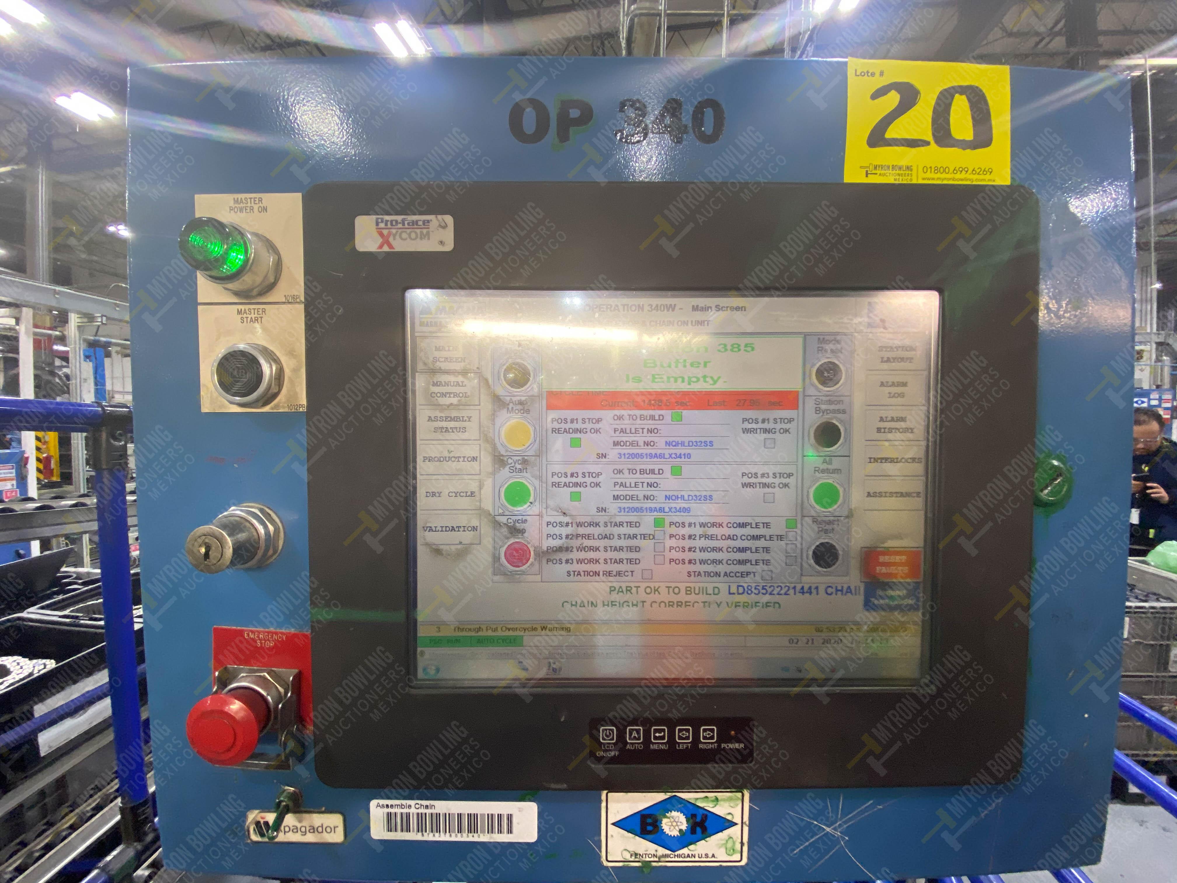 Estación semiautomática para operación 340, contiene: Prensa en estructura de placa de acero - Image 30 of 32
