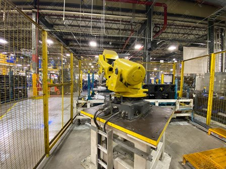 Robot con capacidad de carga de 50-100 Kg, controlador de robot y teach pendant