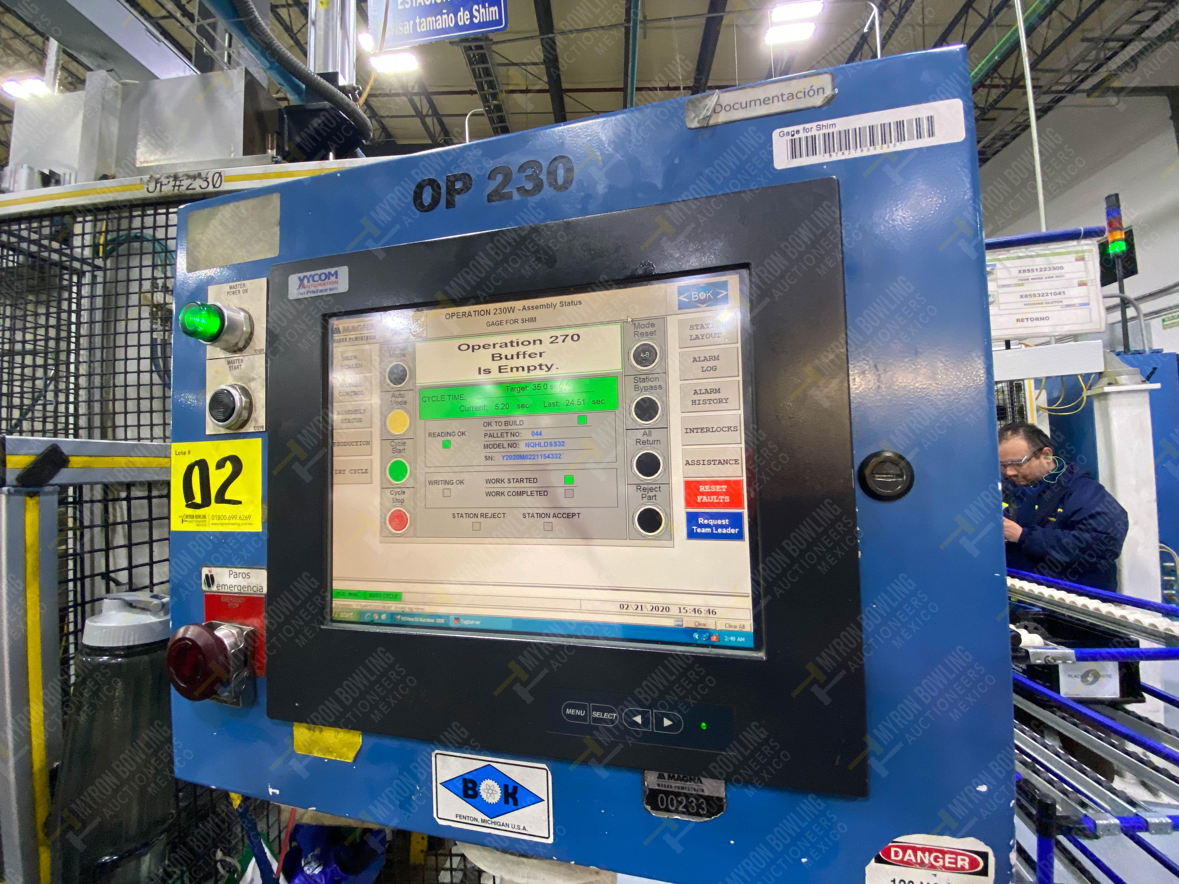 Estación automática para operación 230, para medición de gap - Image 34 of 36