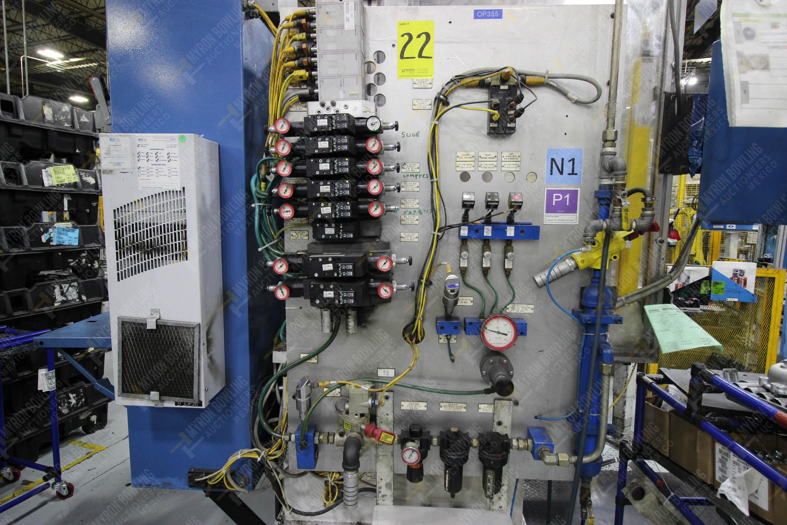 Estación semiautomática para operación 355A, contiene: Prensa en estructura de placa de acero - Image 18 of 36