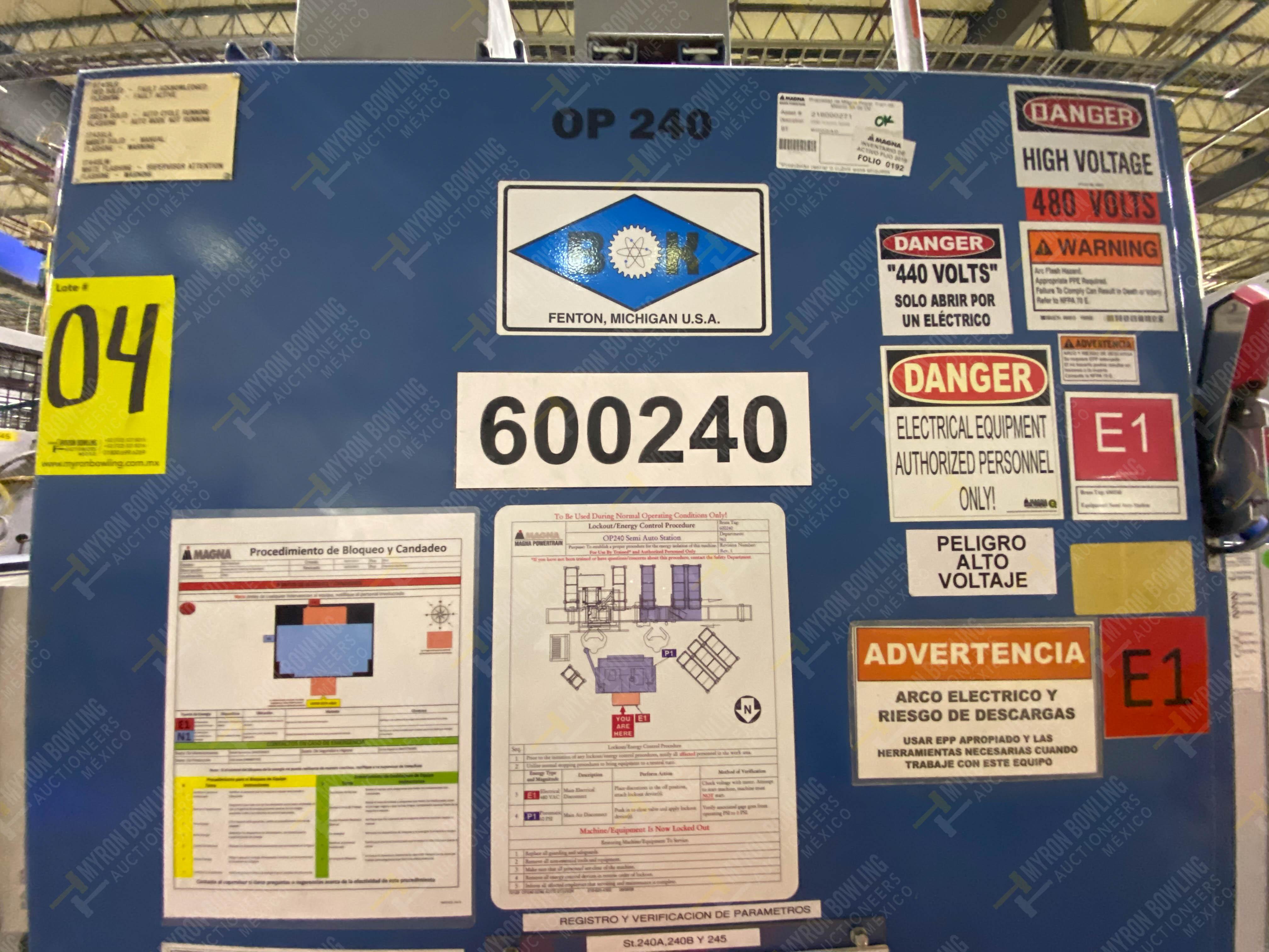 Estación semiautomática para operación 240A de ensamble de balero - Image 23 of 29