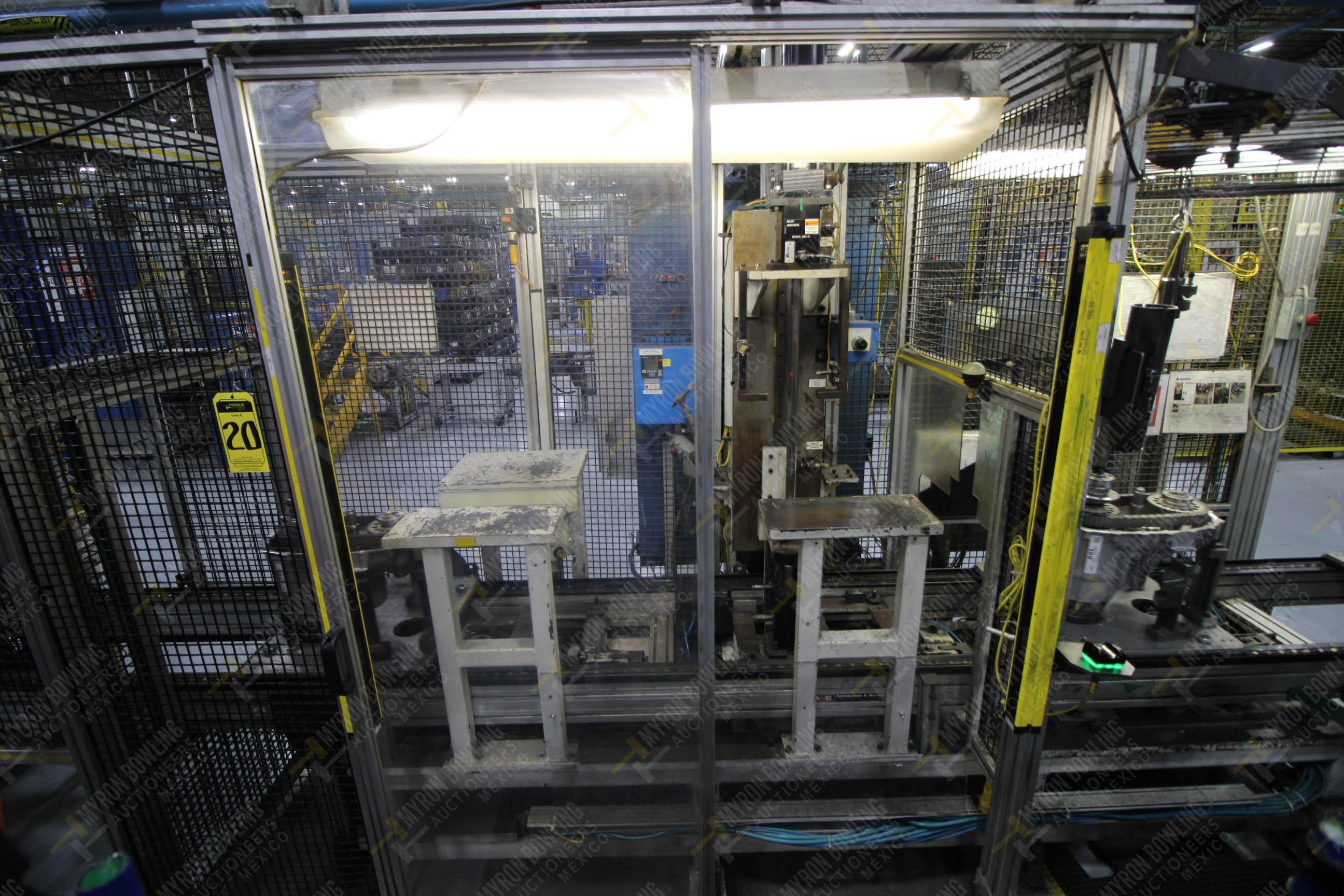 Estación semiautomática para operación 340, contiene: Prensa en estructura de placa de acero - Image 3 of 32