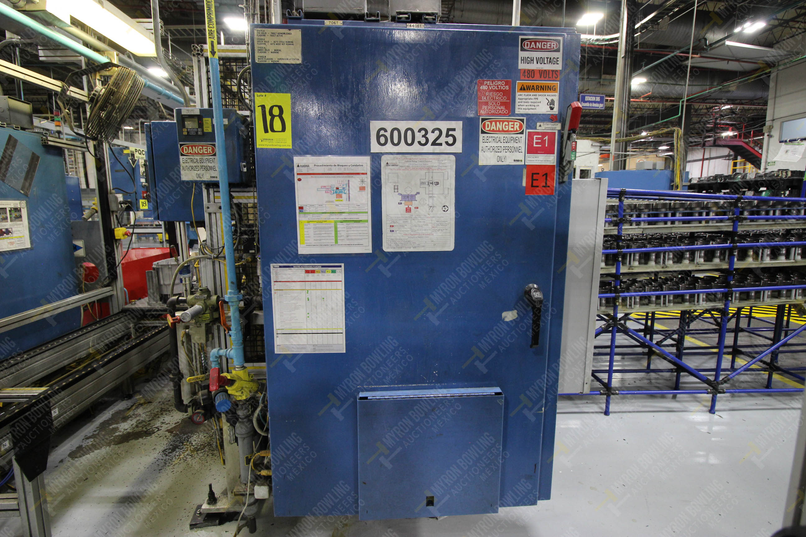 Estación semiautomática para operación 325, contiene: Prensa con dos cilindros marca TOX - Image 16 of 24