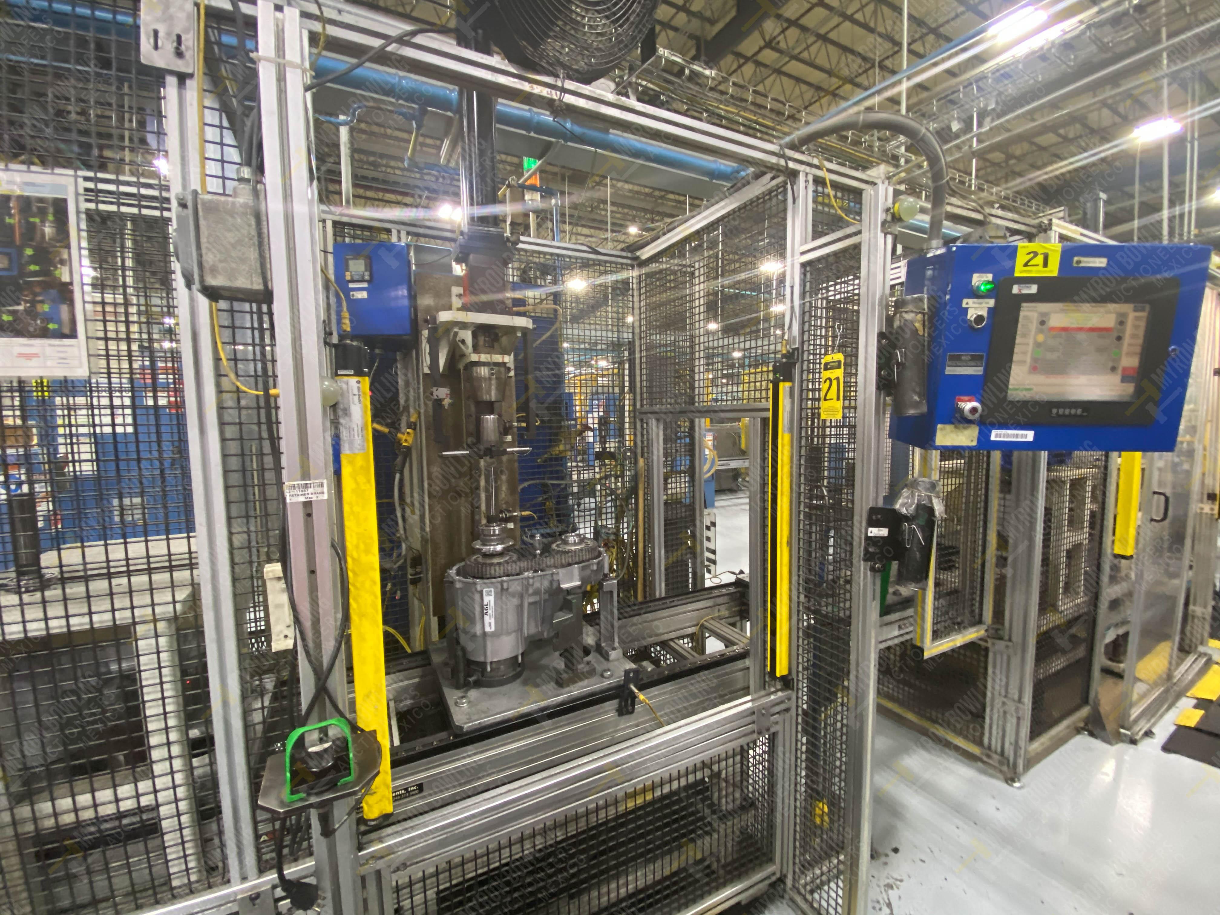 Estación semiautomática para operación 341, contiene: Prensa en estructura de placa de acero - Image 2 of 26