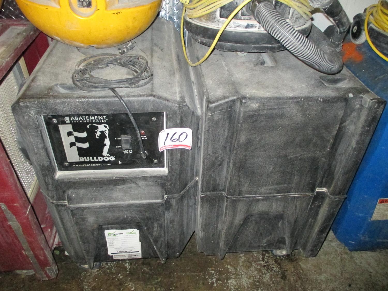 bulldog negative air machine