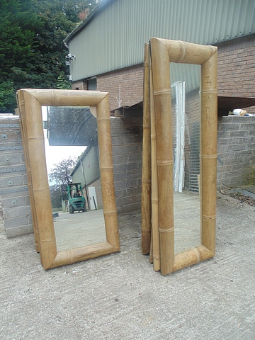 Lot 60 - Bamboo style framed mirror 600mm x 1810mm